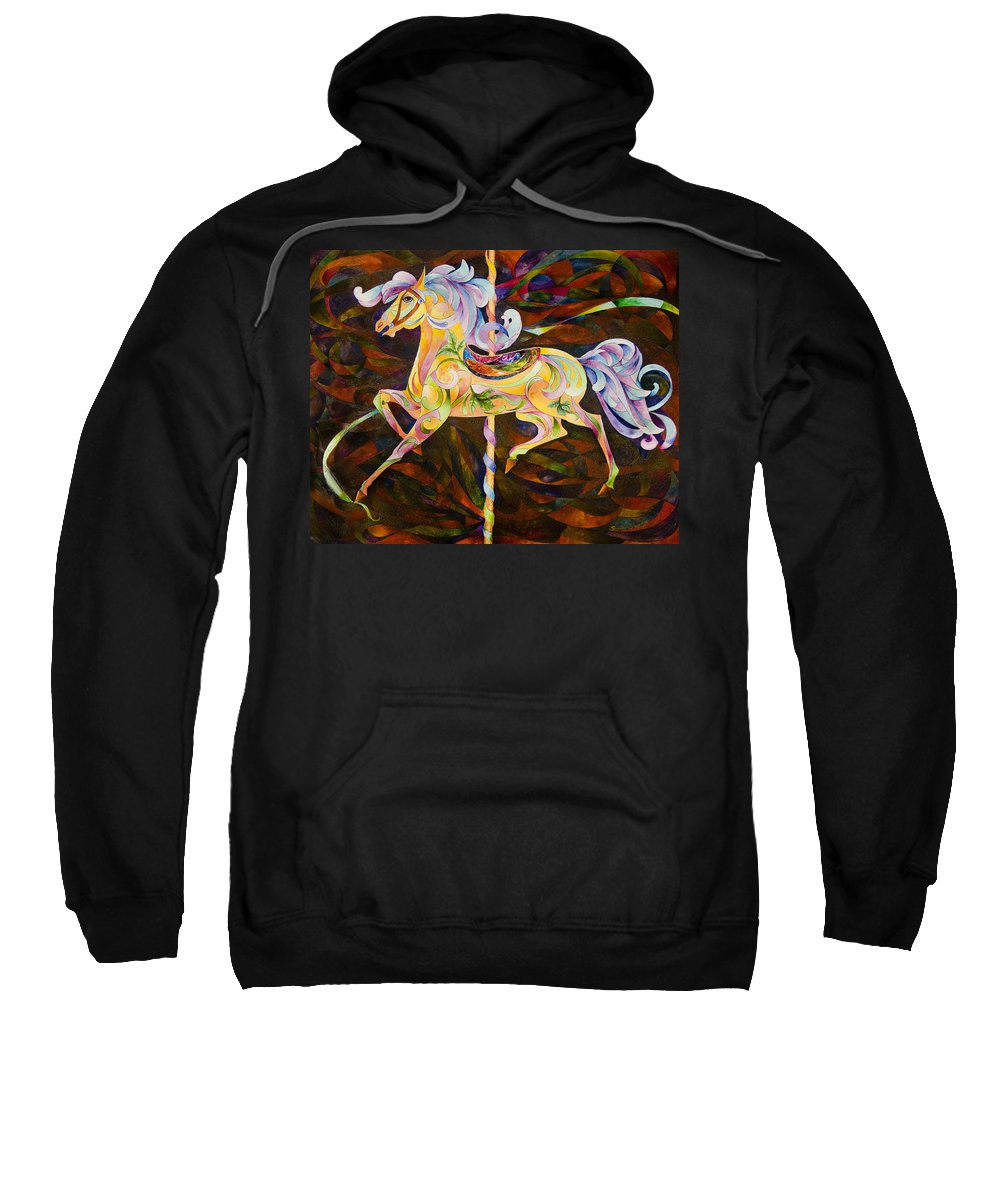 Horse Sweatshirt featuring the painting Butter Cup by Sherry Shipley
