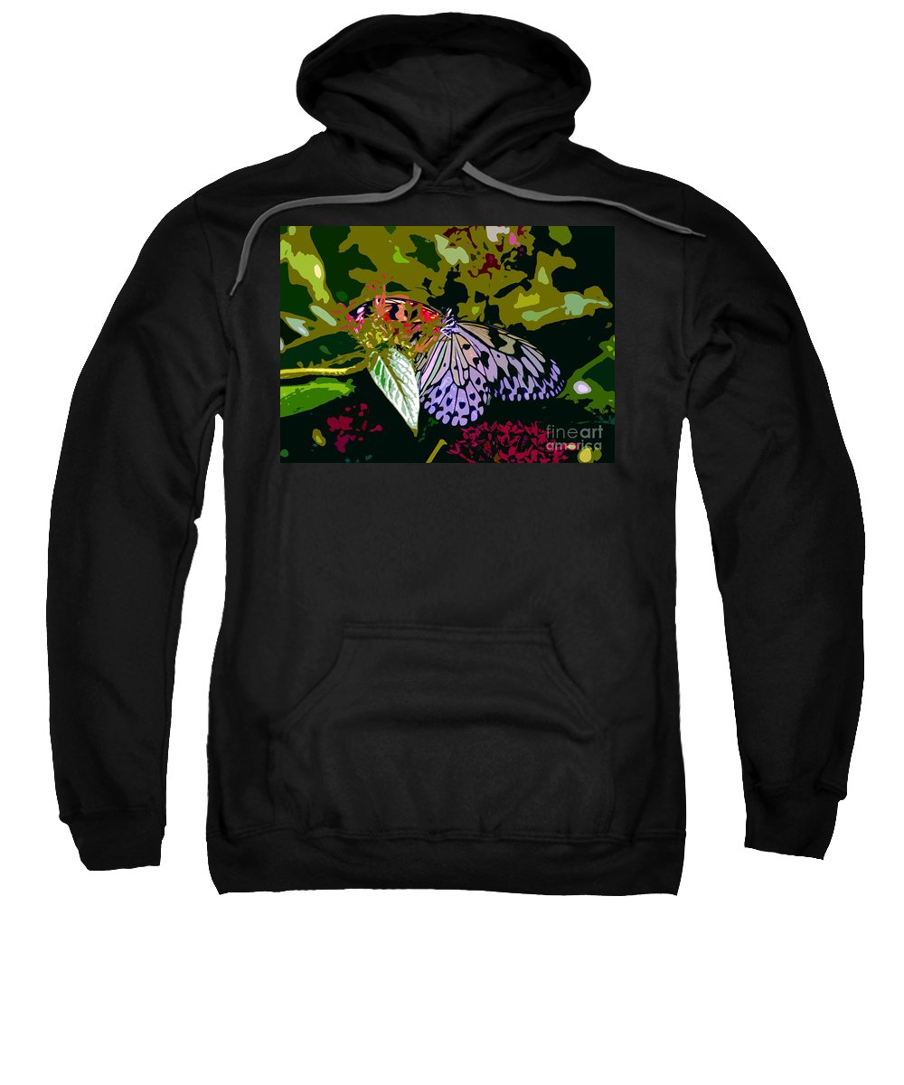 Butterfly Sweatshirt featuring the photograph Butterfly In Garden by David Lee Thompson