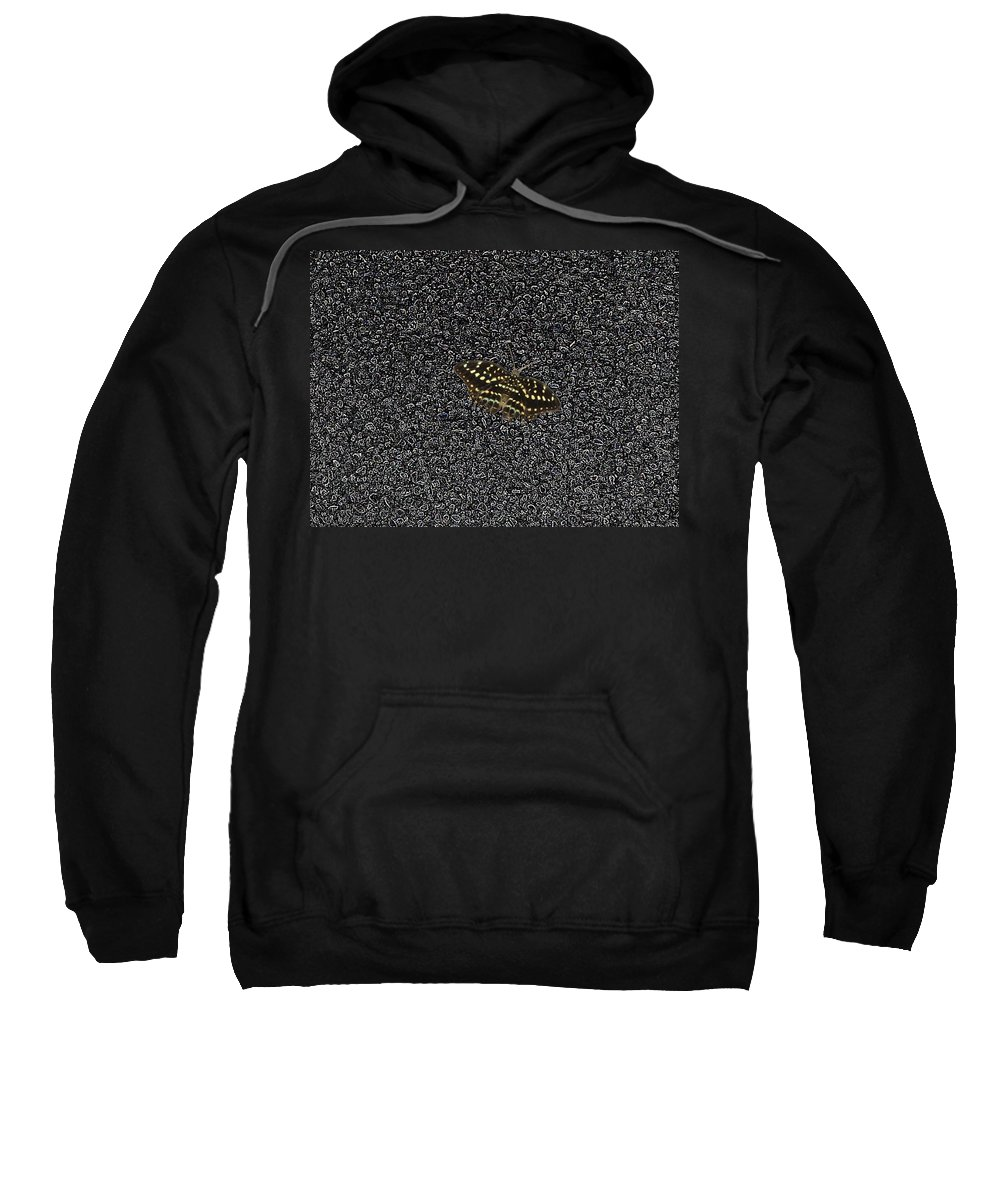 Butterfly Sweatshirt featuring the photograph Butterfly On Stone by Tim Allen