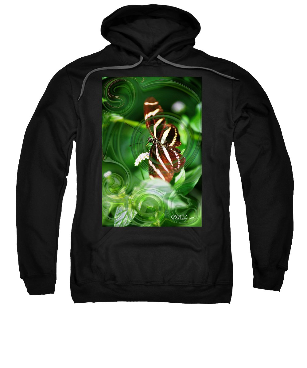 Abstract Art Sweatshirt featuring the photograph Butterfly Overlay by Donna Bentley