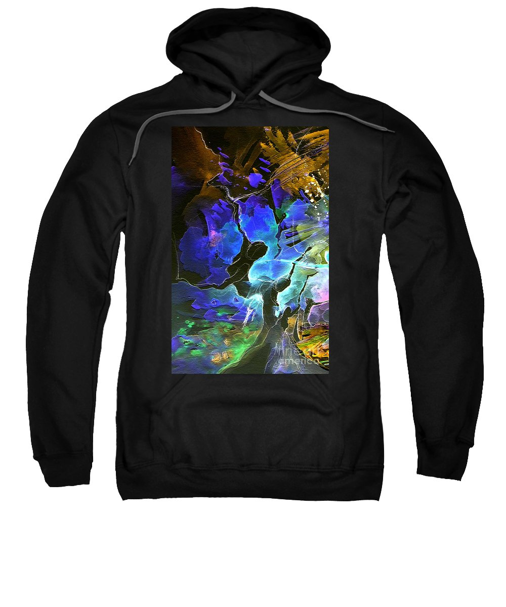 Miki Sweatshirt featuring the painting Bye by Miki De Goodaboom