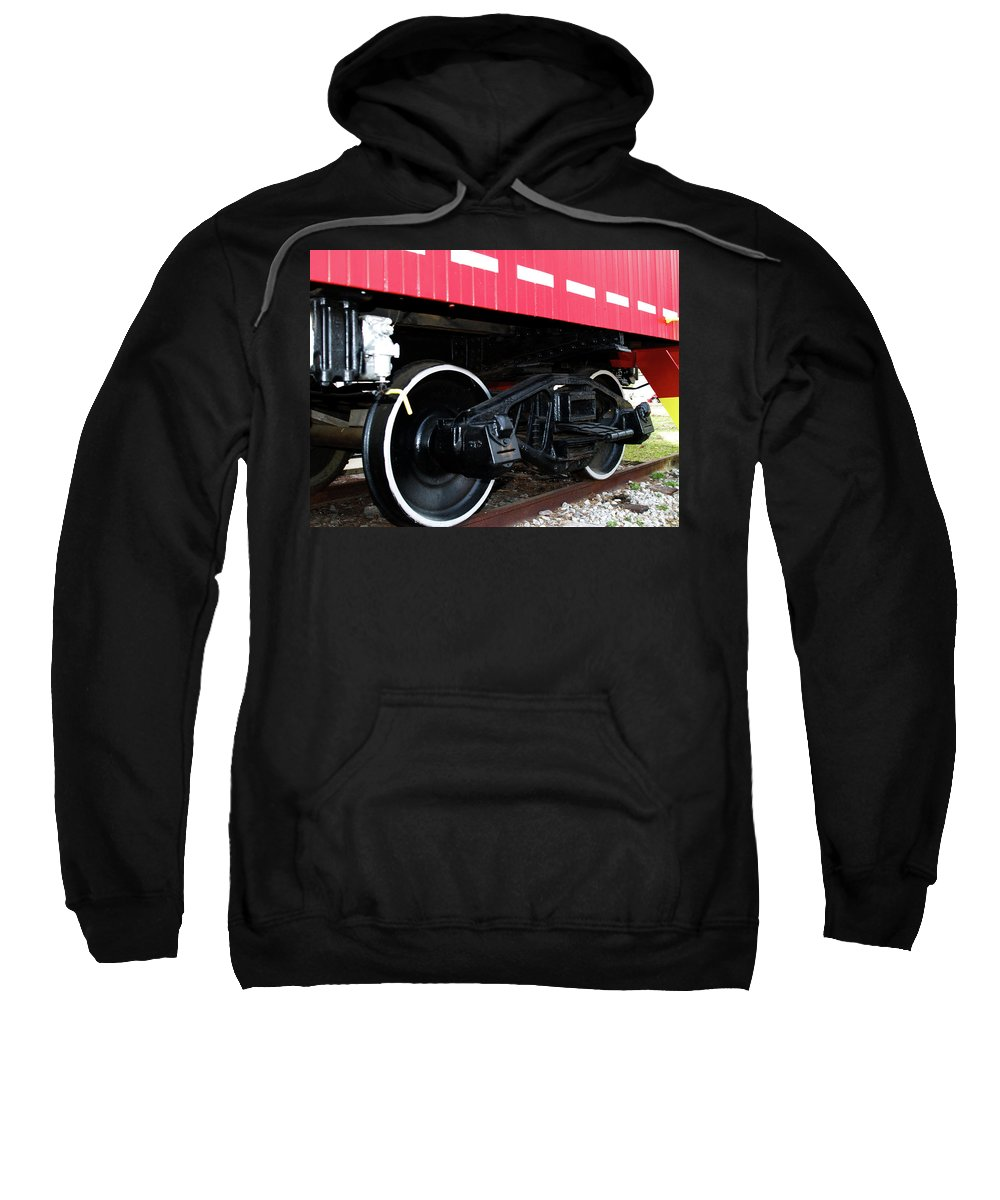 Caboose Sweatshirt featuring the photograph Caboose by Bob Johnson