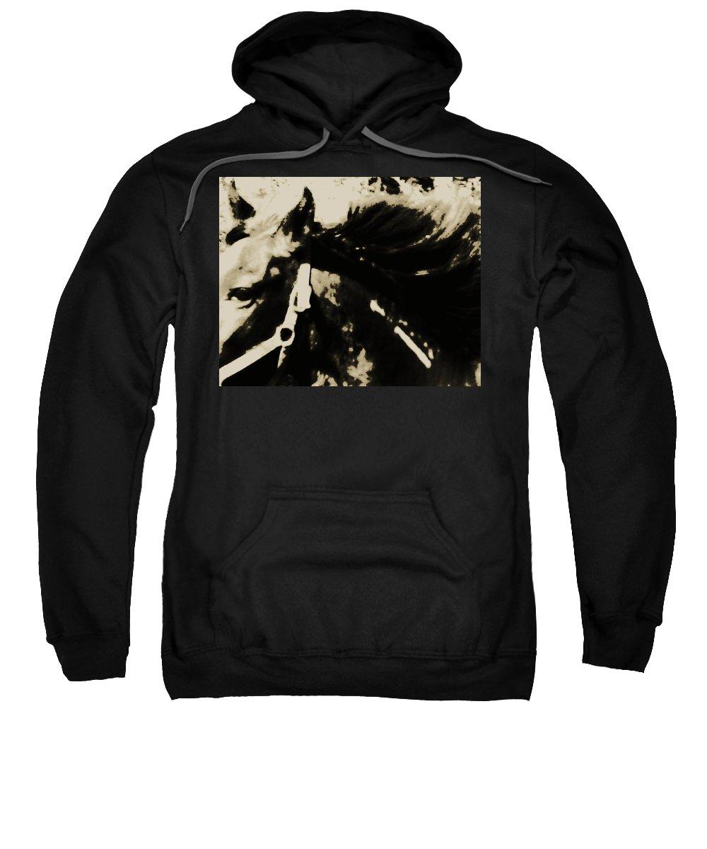 Mustang Sweatshirt featuring the photograph Caeser's Assassin by Hannah Breidenbach