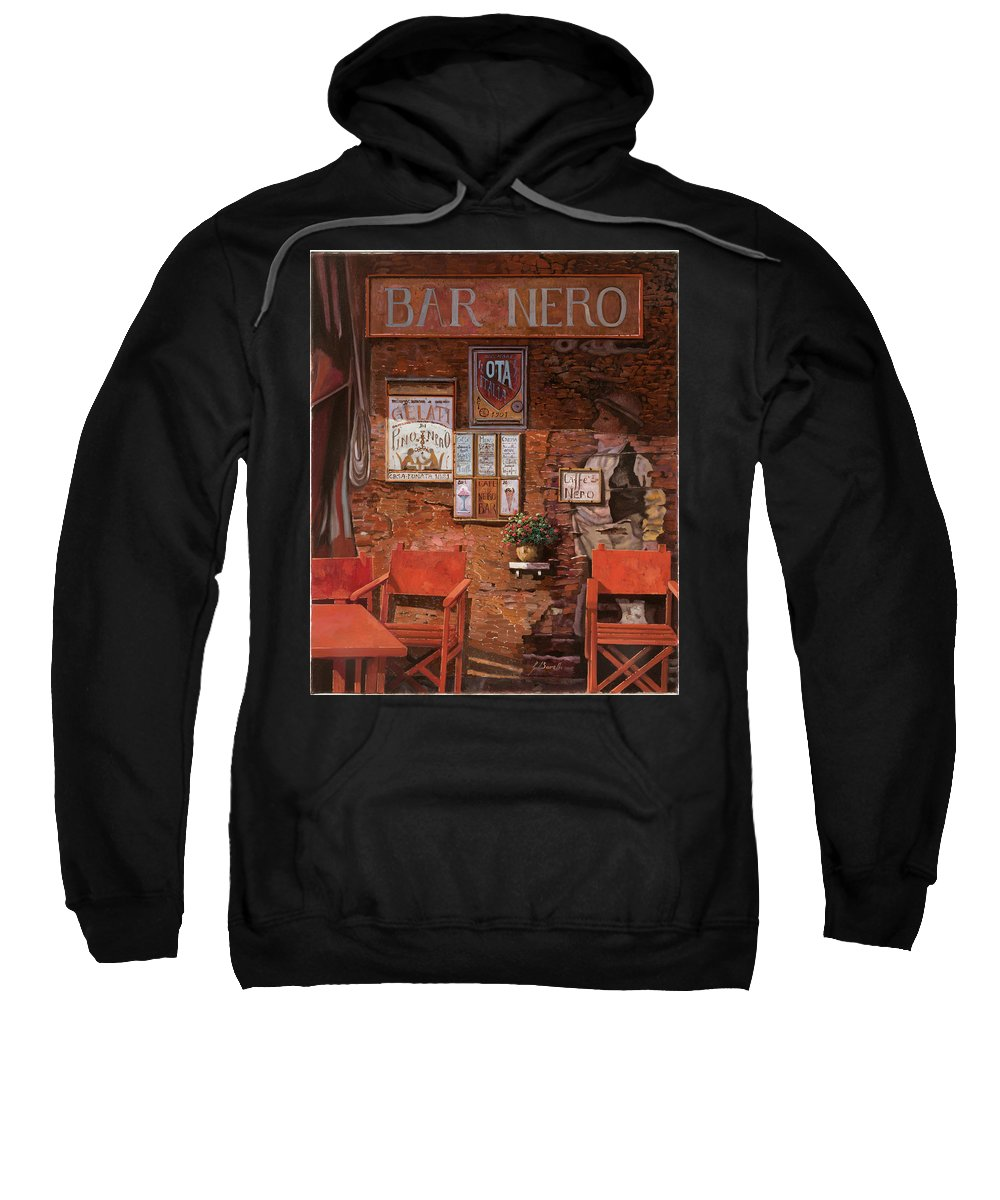 Caffe' Sweatshirt featuring the painting caffe Nero by Guido Borelli