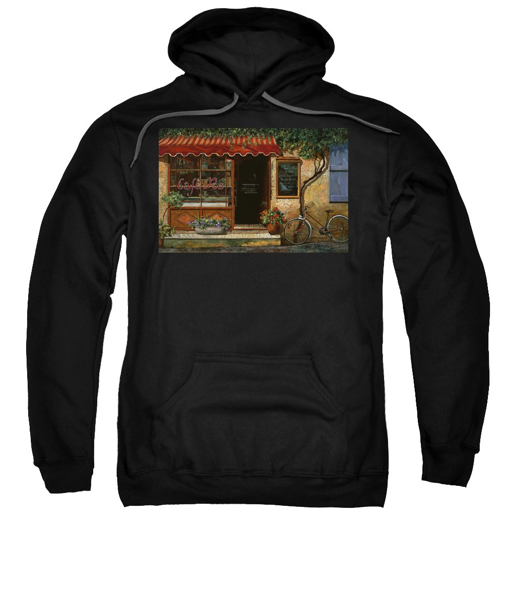 Caffe' Sweatshirt featuring the painting caffe Re by Guido Borelli
