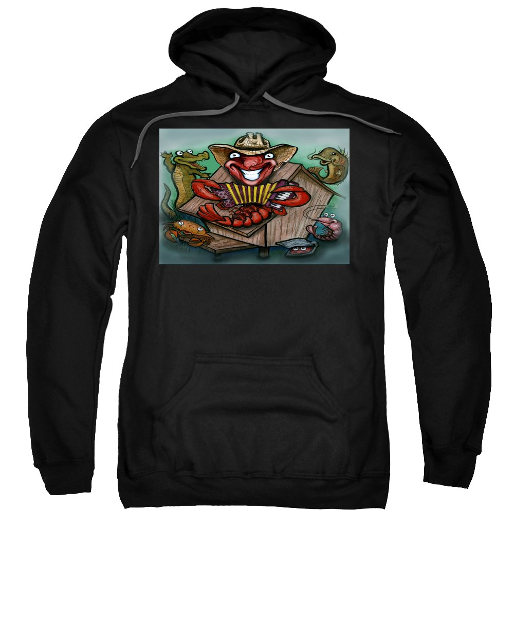 Cajun Sweatshirt featuring the greeting card Cajun Critters by Kevin Middleton