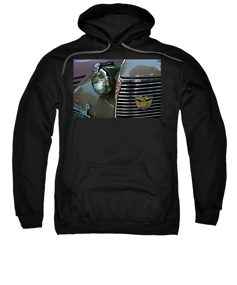 Chevy Sweatshirt featuring the photograph California Chevy Classic by Gwyn Newcombe
