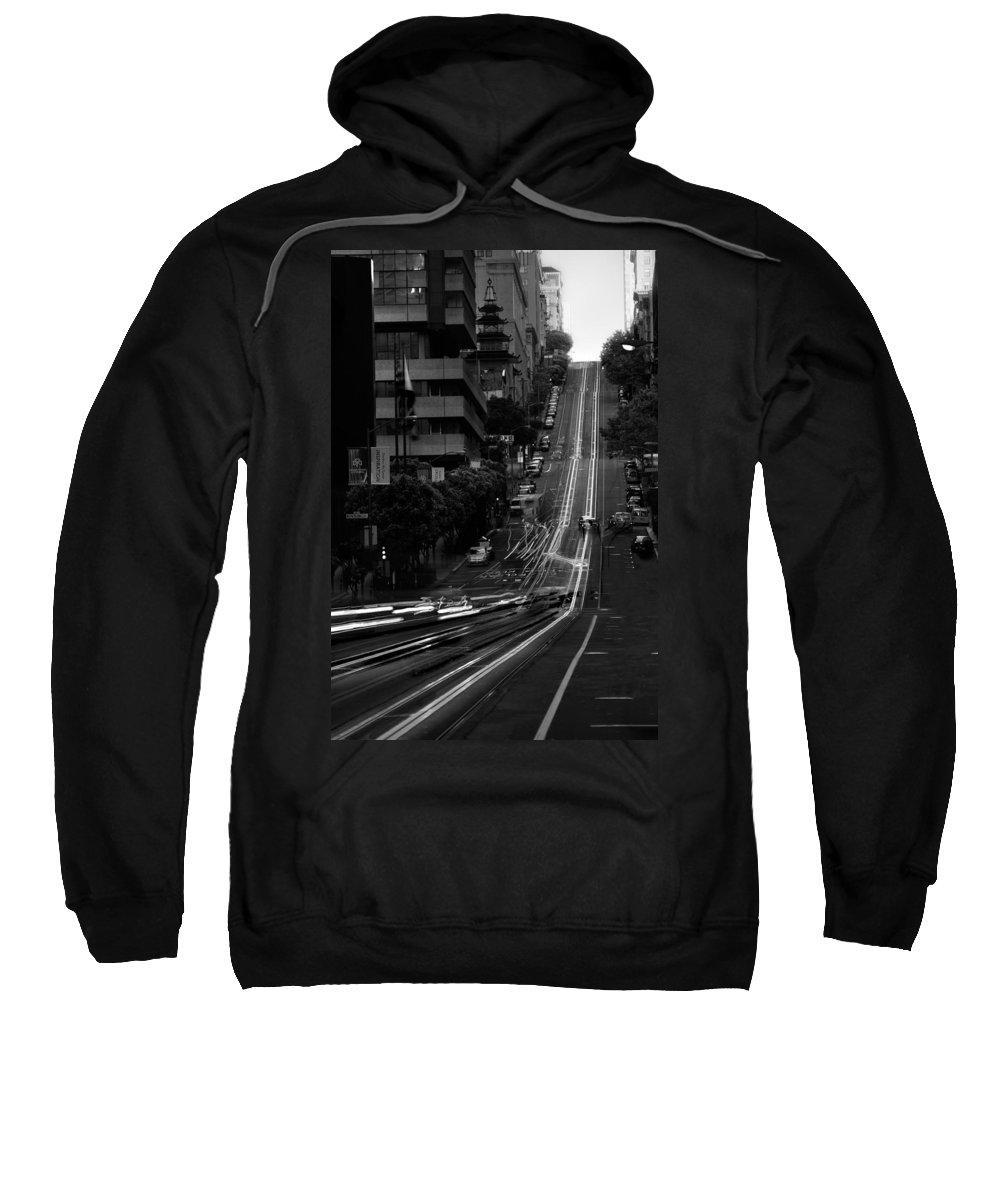 Cable Sweatshirt featuring the photograph California St San Francisco by Steve Gadomski