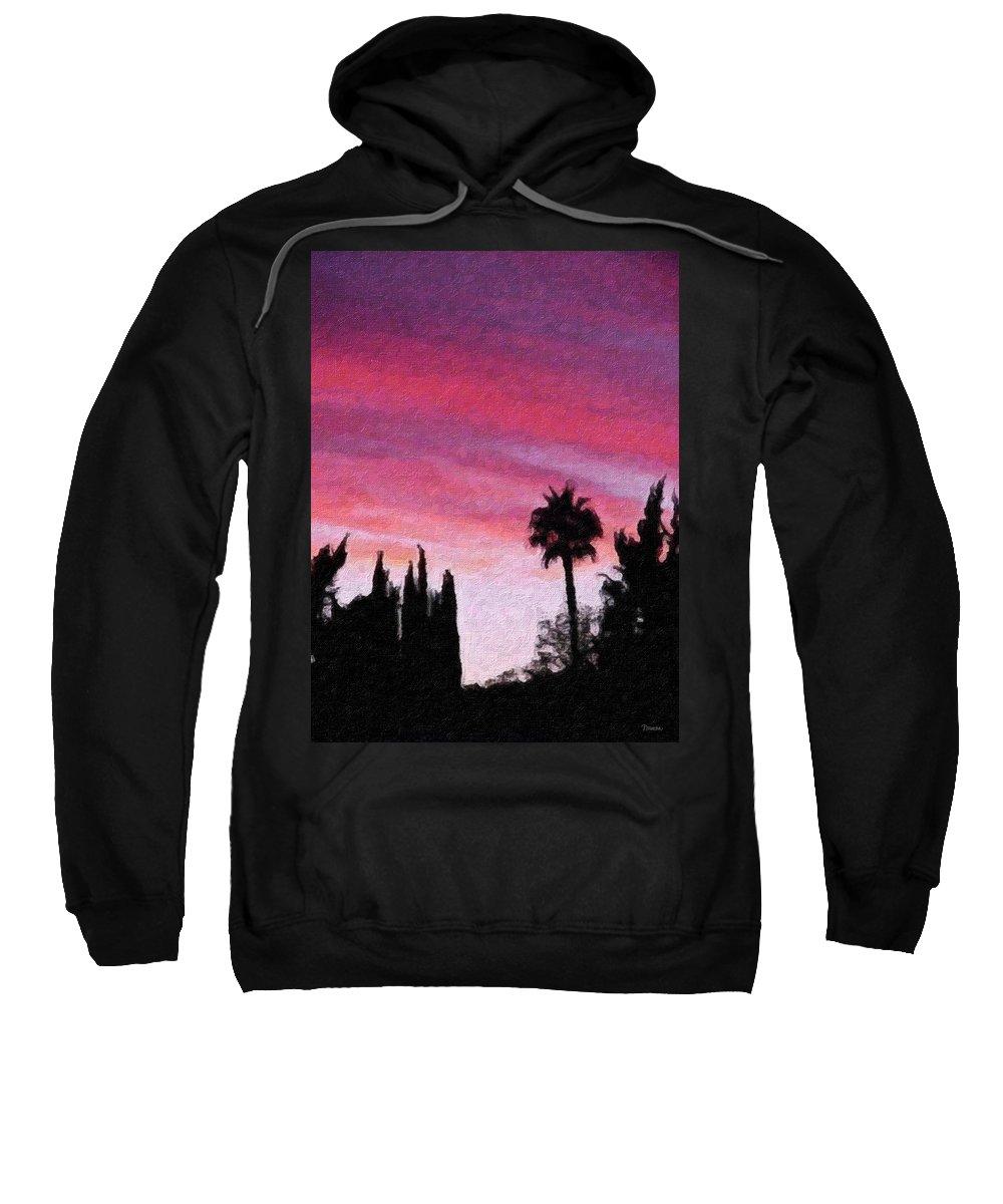 California Sweatshirt featuring the painting California Sunset Painting 2 by Teresa Mucha