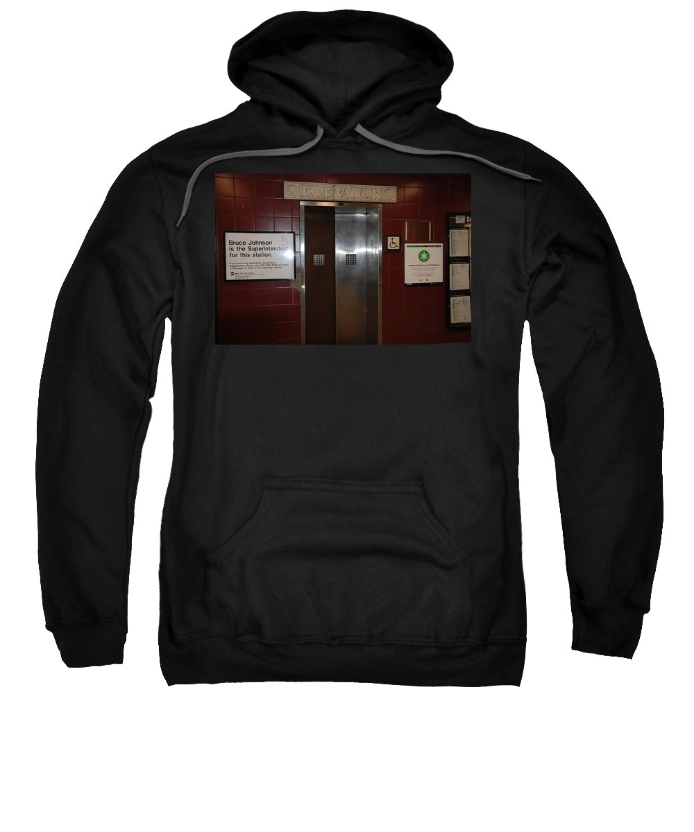 People Sweatshirt featuring the photograph Call Bruce Johnson by Rob Hans