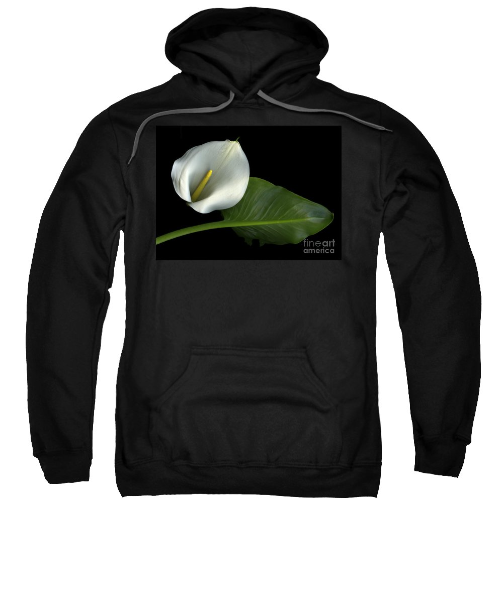 Scanography Sweatshirt featuring the photograph Calla Lily by Christian Slanec