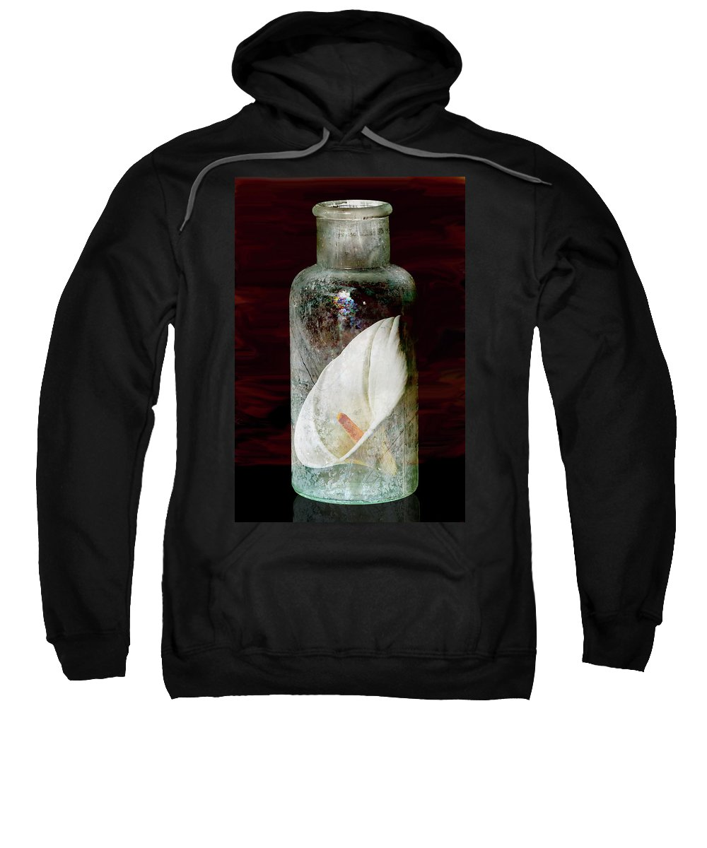 Still Life Sweatshirt featuring the photograph Calla Lily In A Bottle by Phyllis Denton