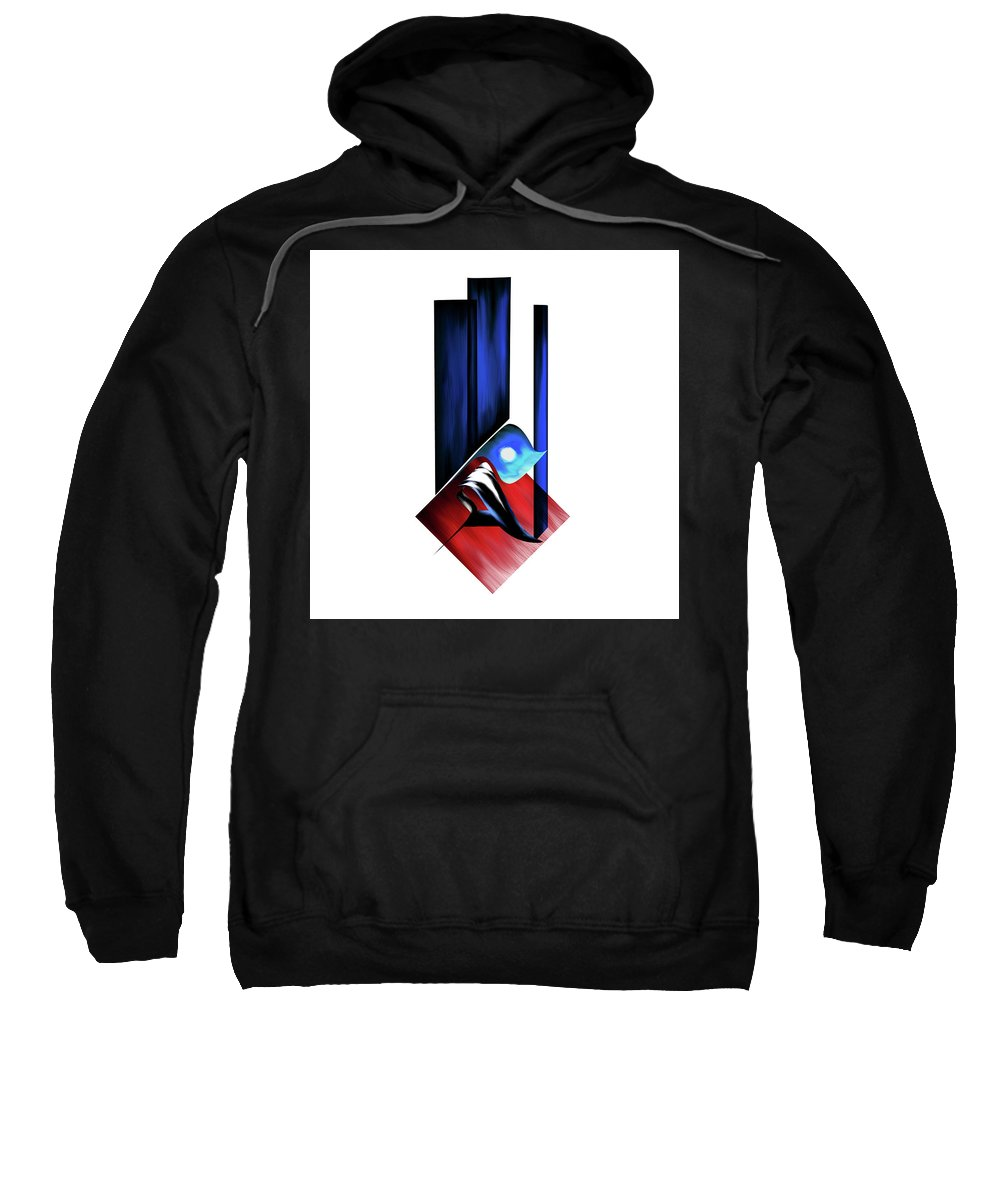Abstract Sweatshirt featuring the painting Calligraphy 102 2 by Mawra Tahreem