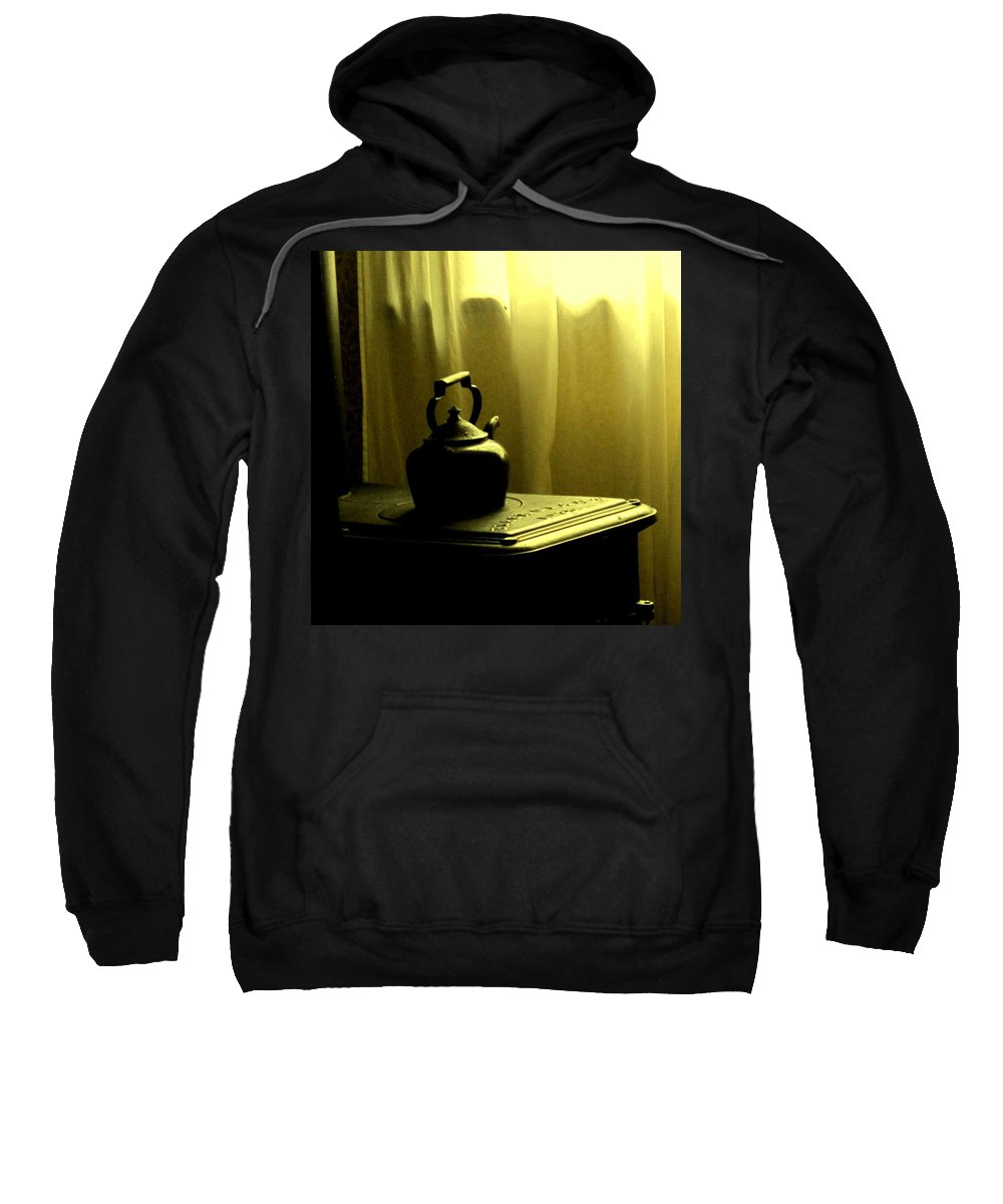 Kettle Sweatshirt featuring the photograph Calling The Kettle Black by Ian MacDonald