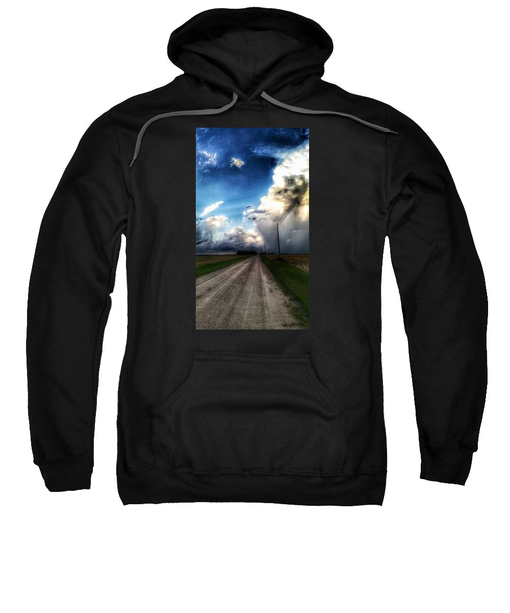 Photography Sweatshirt featuring the photograph Calm Before The Storm by Tim Clark