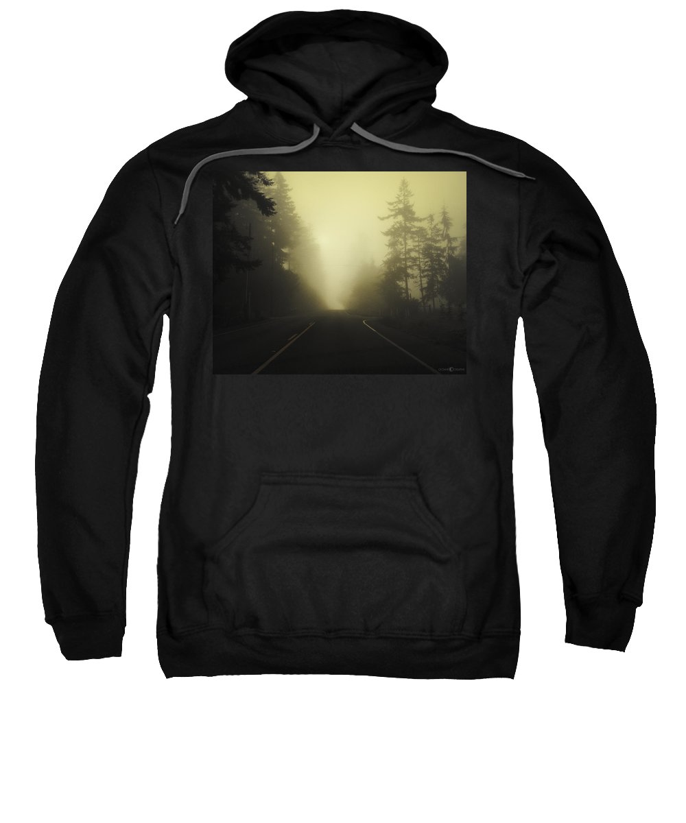 Fog Sweatshirt featuring the photograph Camano Island Fog by Tim Nyberg