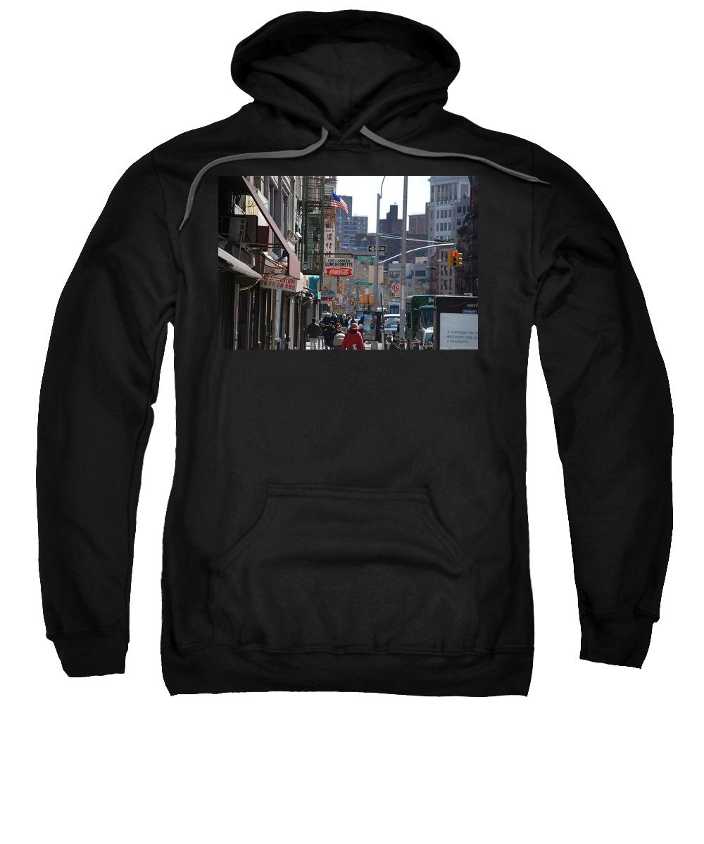 Architecture Sweatshirt featuring the photograph Canal And Eldridge by Rob Hans