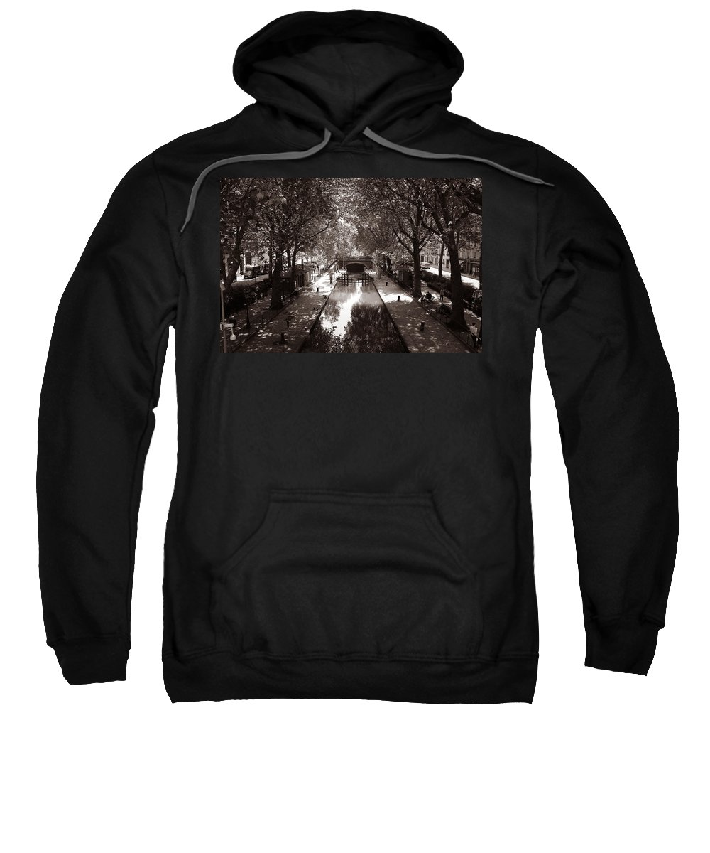 Paris Sweatshirt featuring the photograph Canal Saint Martin 2 by Andrew Fare