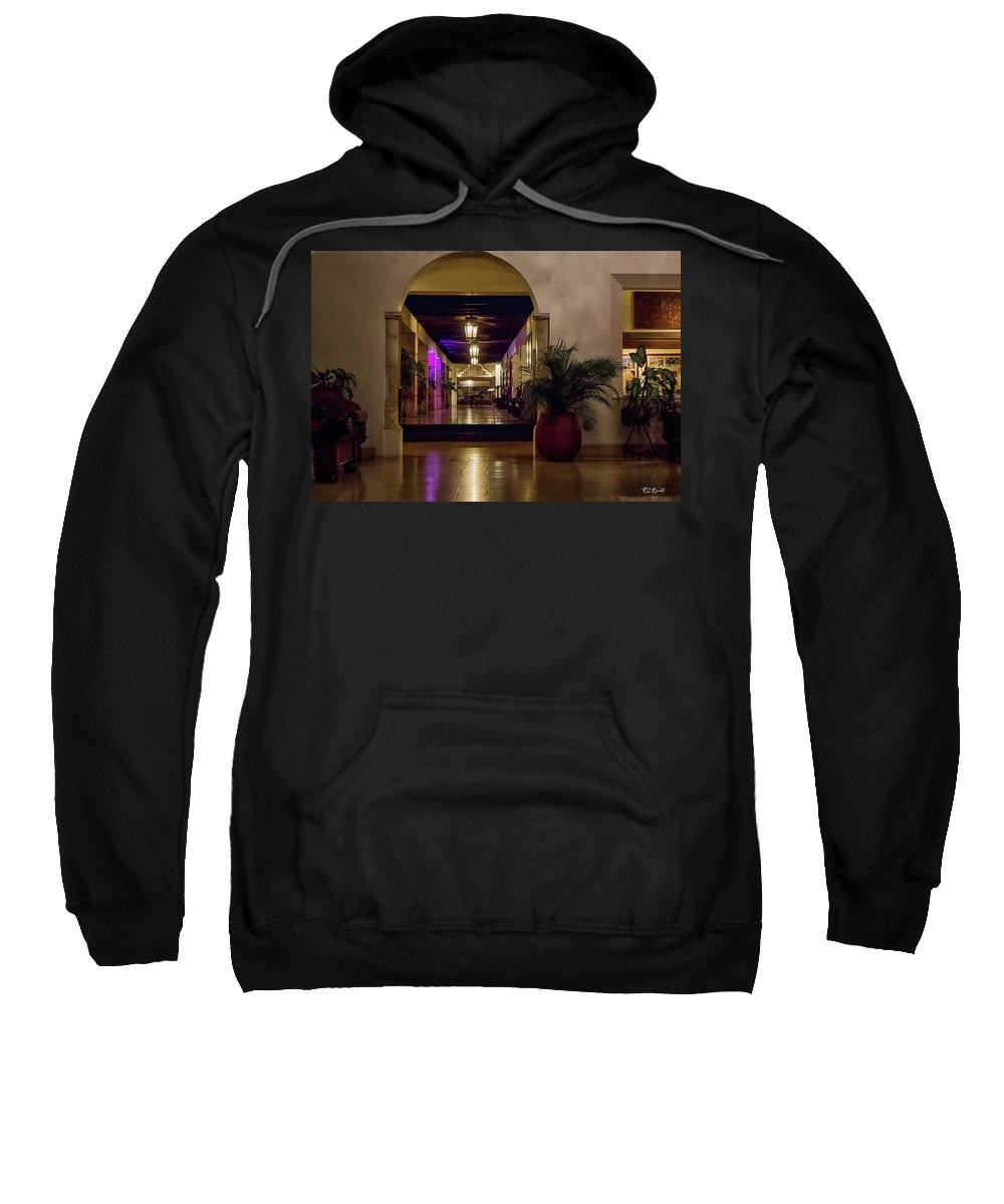 Cancun Sweatshirt featuring the photograph Cancun Mexico - Chichen Itza - Mayan Dining Hall by Ronald Reid