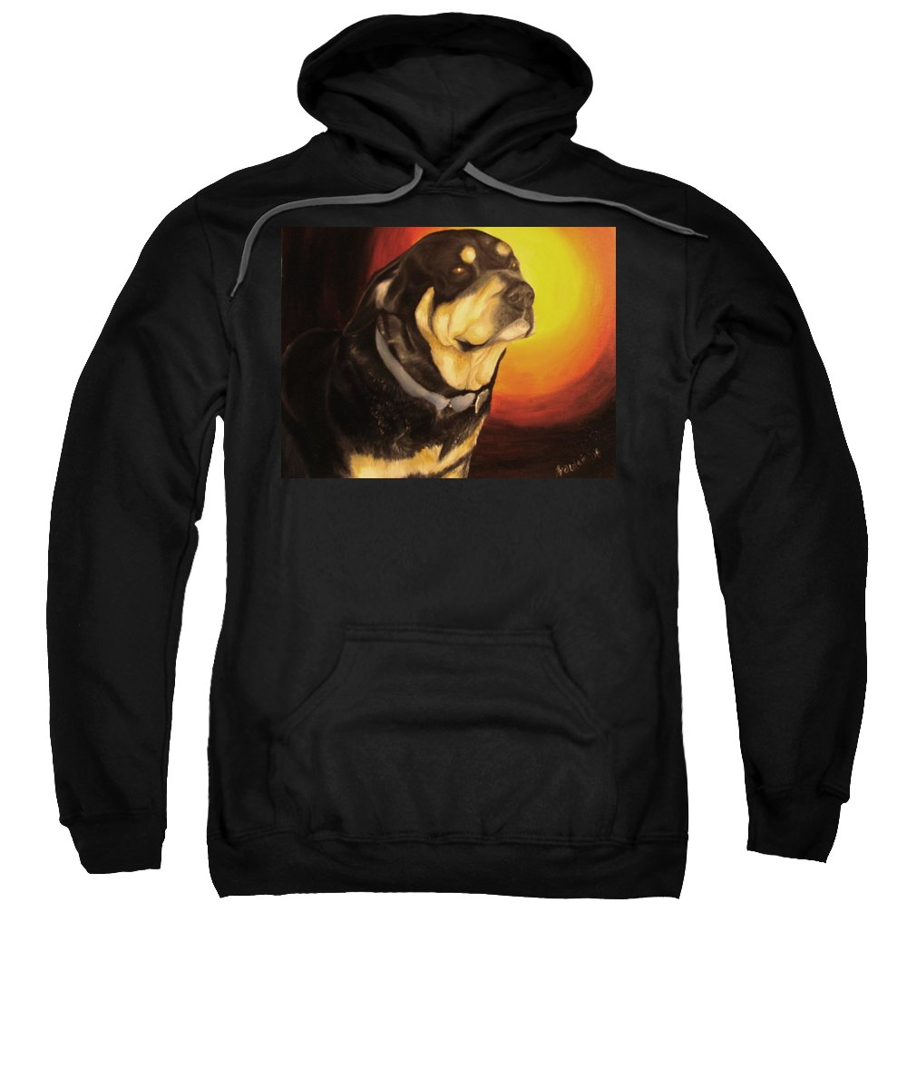 Paintings Sweatshirt featuring the painting Canine Vision by Glory Fraulein Wolfe