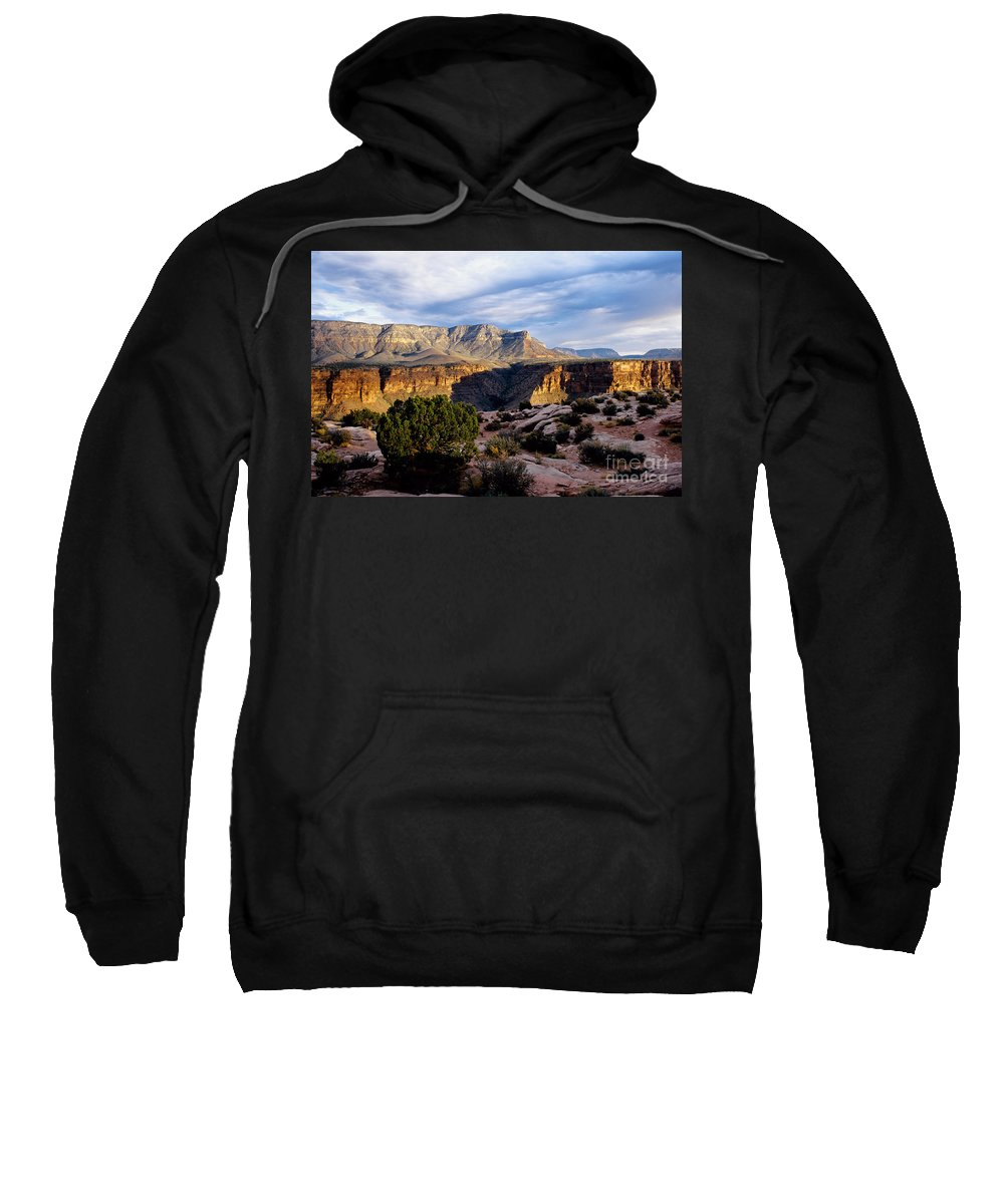Toroweap Sweatshirt featuring the photograph Canyon Walls at Toroweap by Kathy McClure