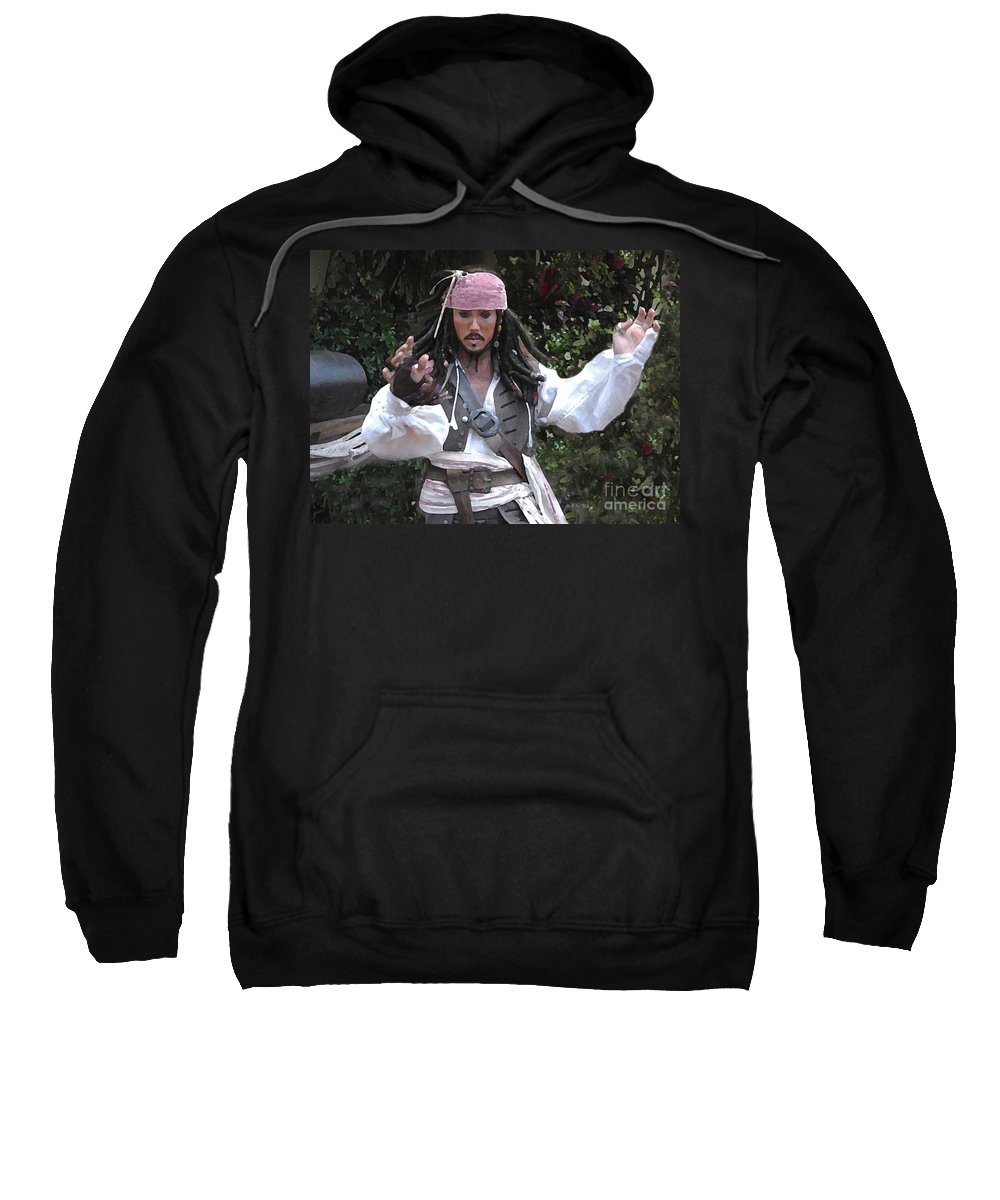 Captain Sweatshirt featuring the photograph Captain Sparrow by David Lee Thompson