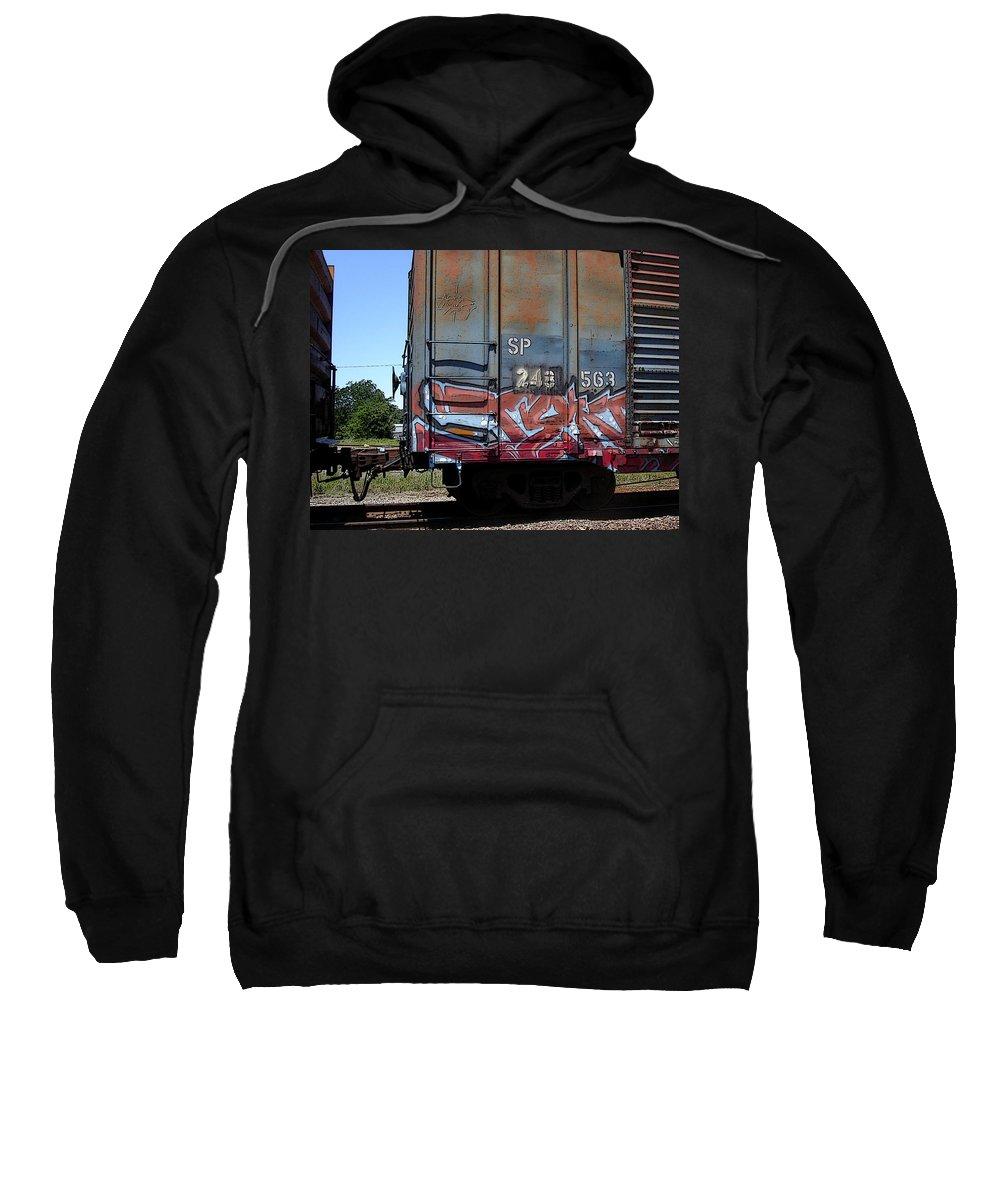 Train Sweatshirt featuring the photograph Car 243 by Anne Cameron Cutri