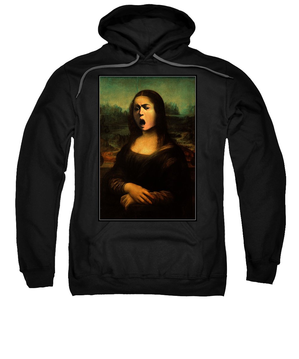 Caravaggio Sweatshirt featuring the painting Caravaggio's Mona by Gravityx9 Designs