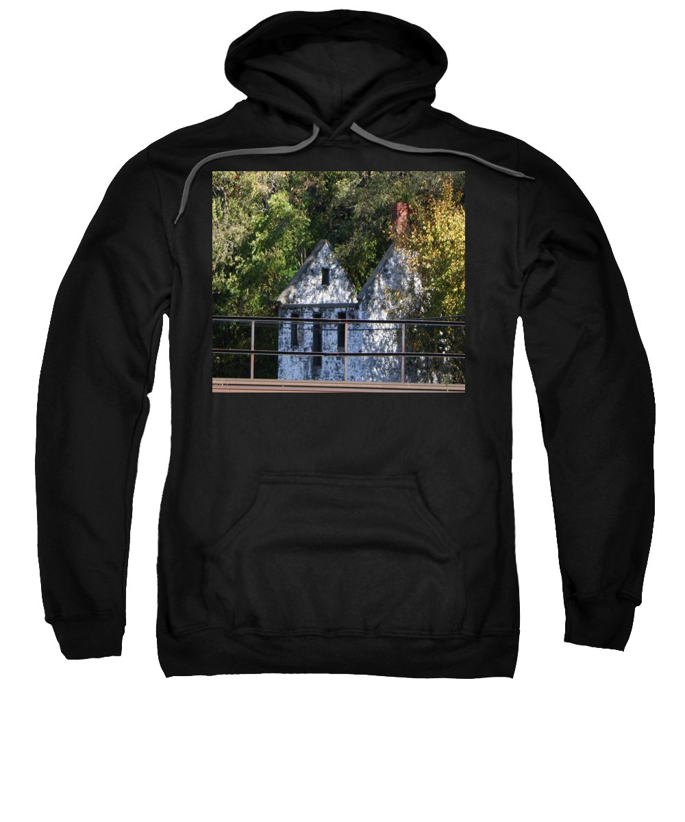 Stone House Sweatshirt featuring the photograph Caretakers House by Rebecca Smith