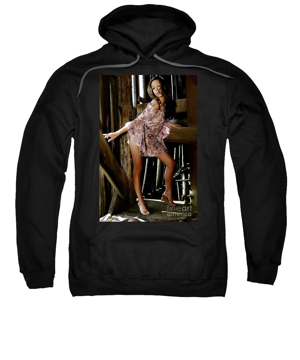 Clay Sweatshirt featuring the photograph Carla's In The Barn Again by Clayton Bruster