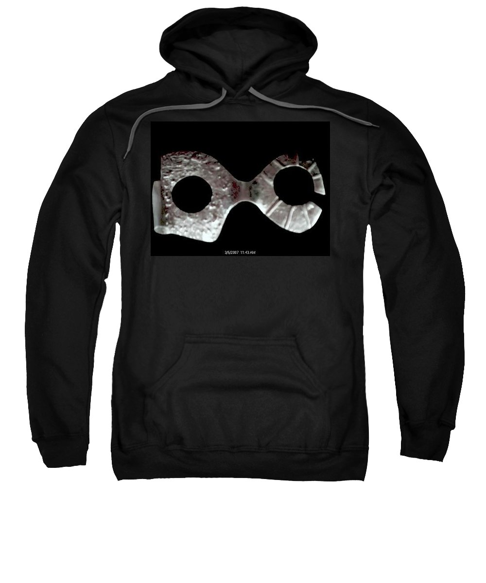 Carnival Type Face Mask For Wearing In .999 Fine Silver Sweatshirt featuring the photograph Carnival 002 by Robert aka Bobby Ray Howle