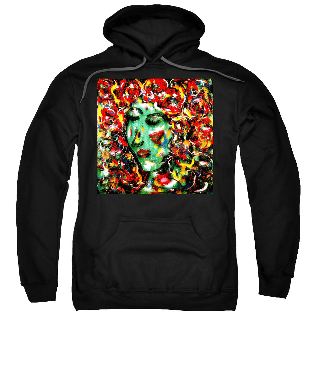 Girl Sweatshirt featuring the painting Carnival Girl by Natalie Holland
