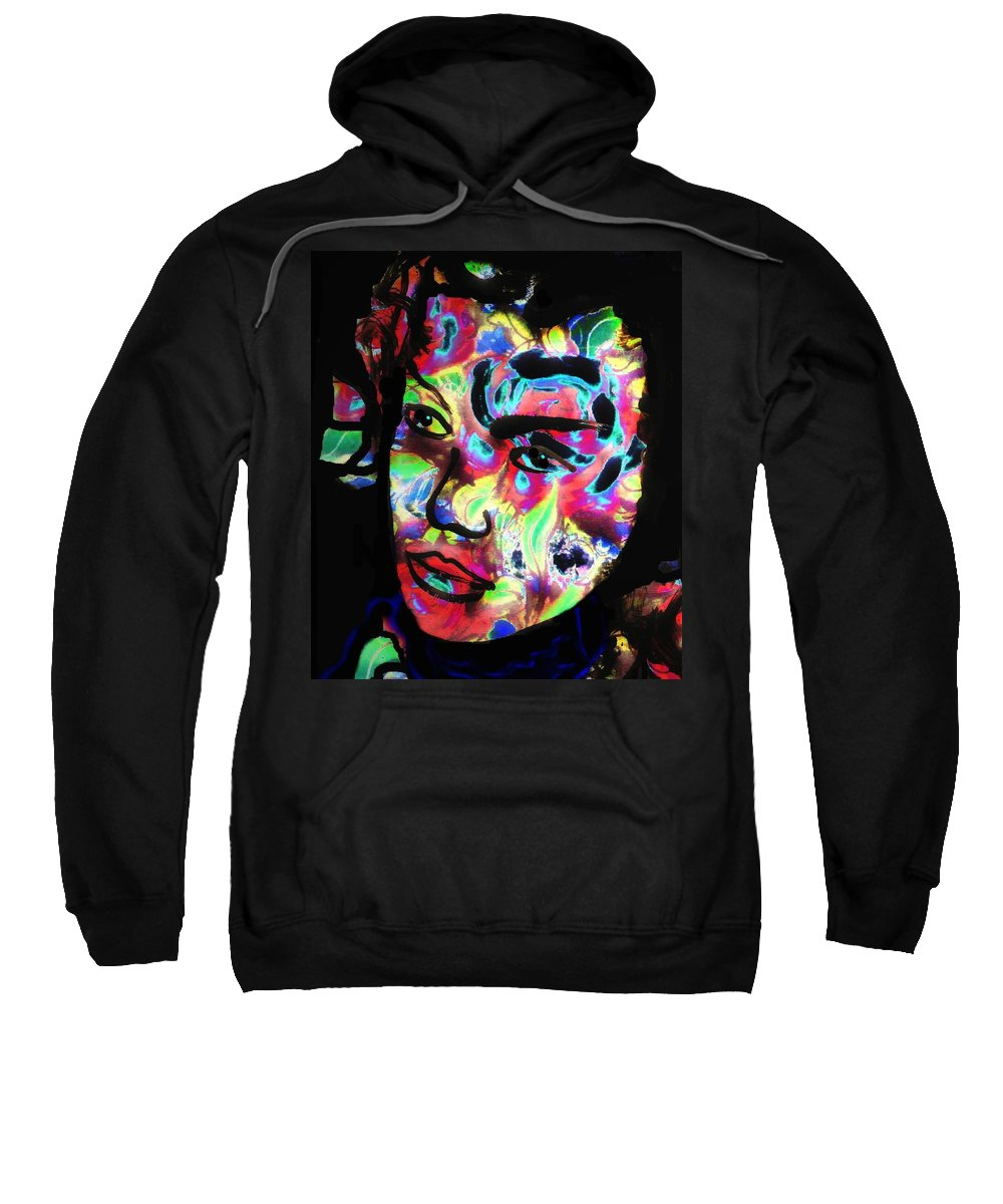 Carnival Woman Sweatshirt featuring the mixed media Carnival by Natalie Holland