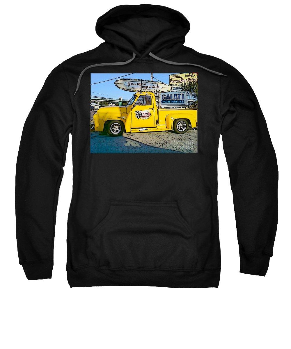 Cartoon Sweatshirt featuring the photograph Cartoon Truck by Michelle Powell
