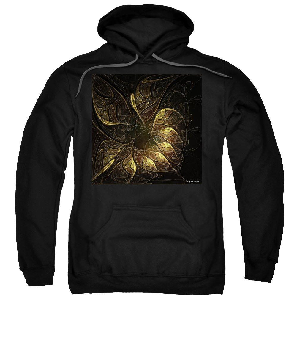 Digital Art Sweatshirt featuring the digital art Carved In Gold by Amanda Moore