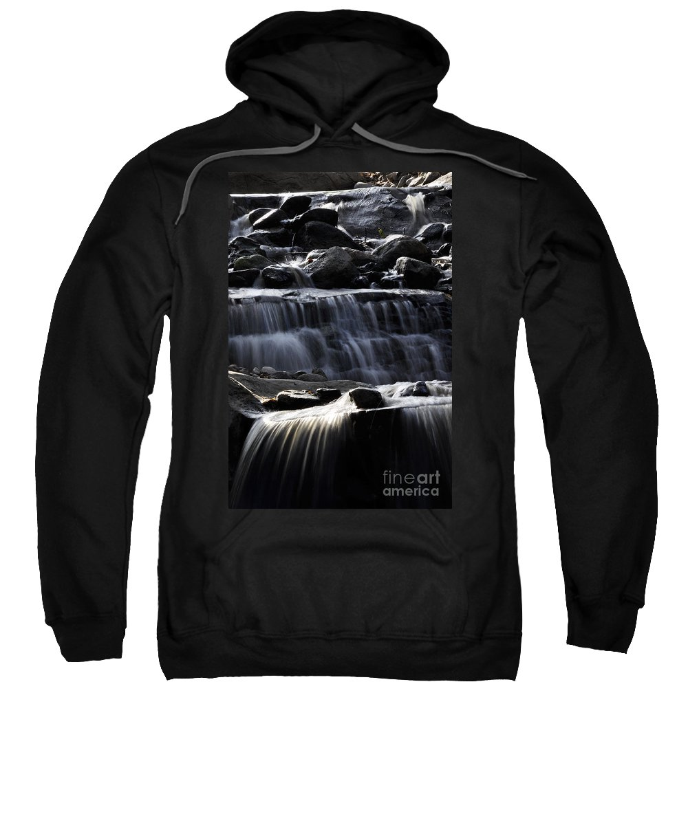 Clay Sweatshirt featuring the photograph Cascading Falls by Clayton Bruster
