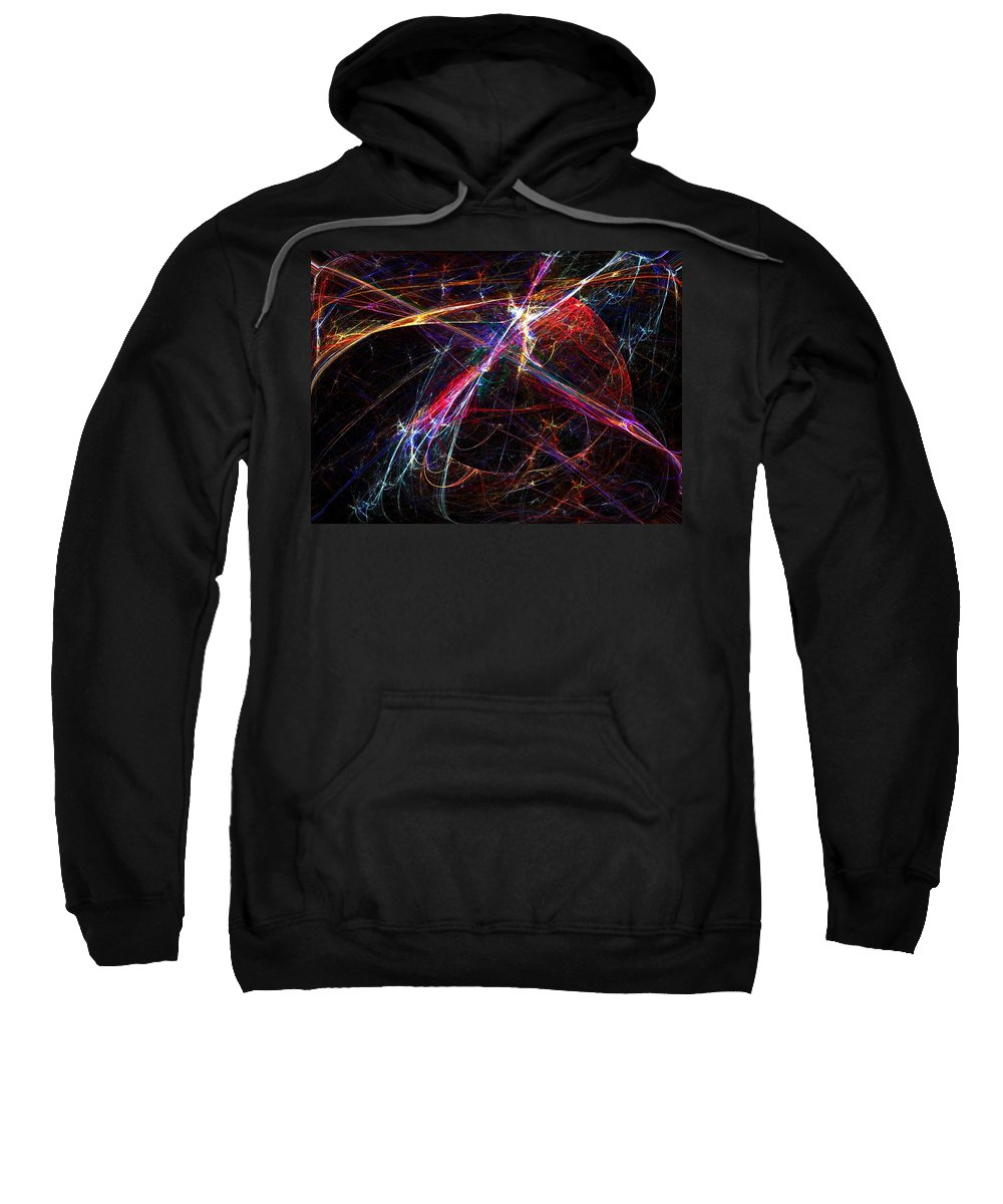 Abstract Digital Painting Sweatshirt featuring the digital art Cat Toy by David Lane