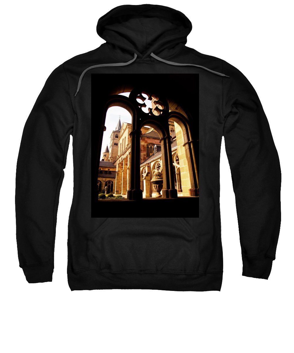 Architecture Sweatshirt featuring the photograph Cathedral Of Trier Window by Steven Myers