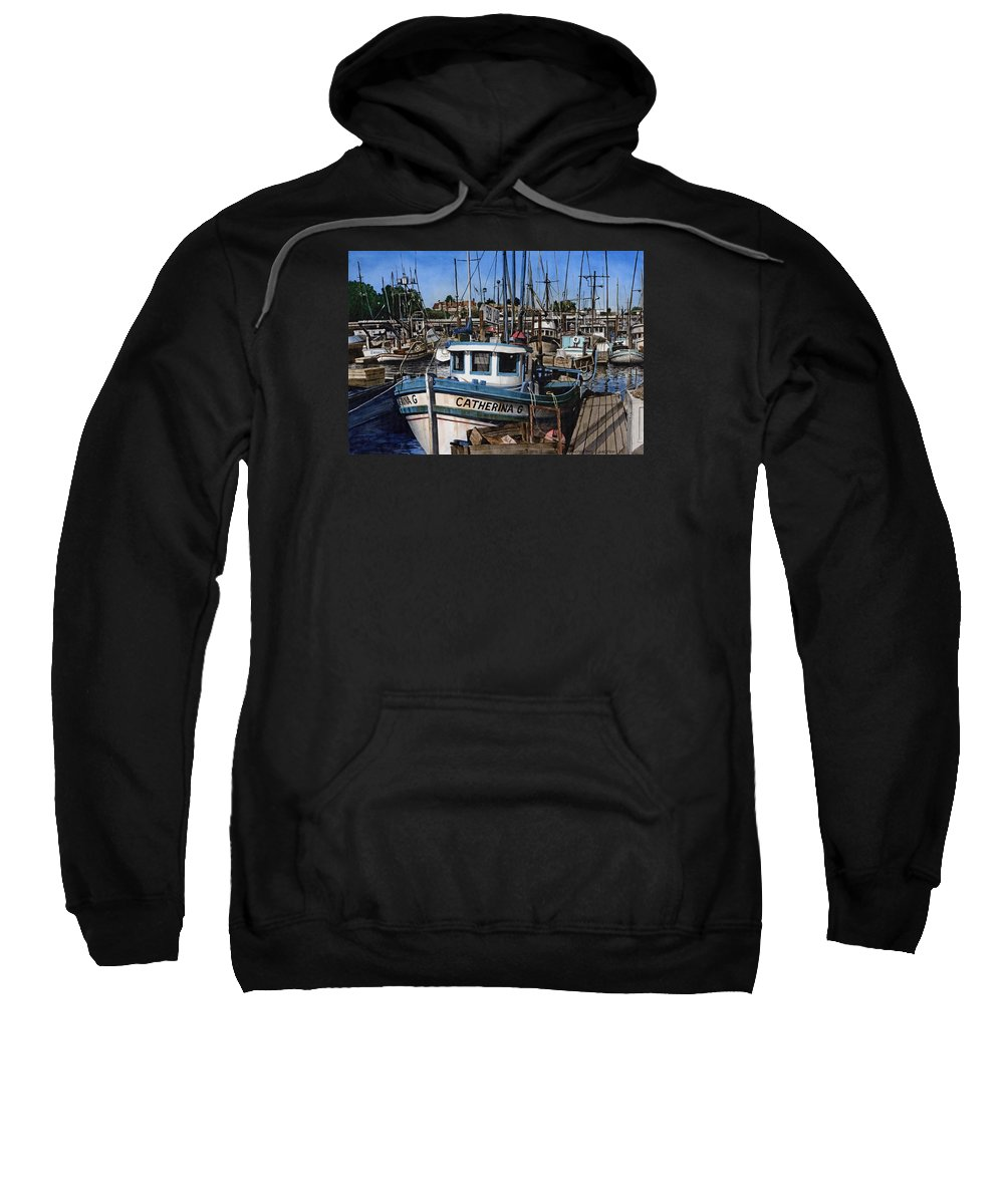 Transportation Sweatshirt featuring the painting Catherina G by James Robertson