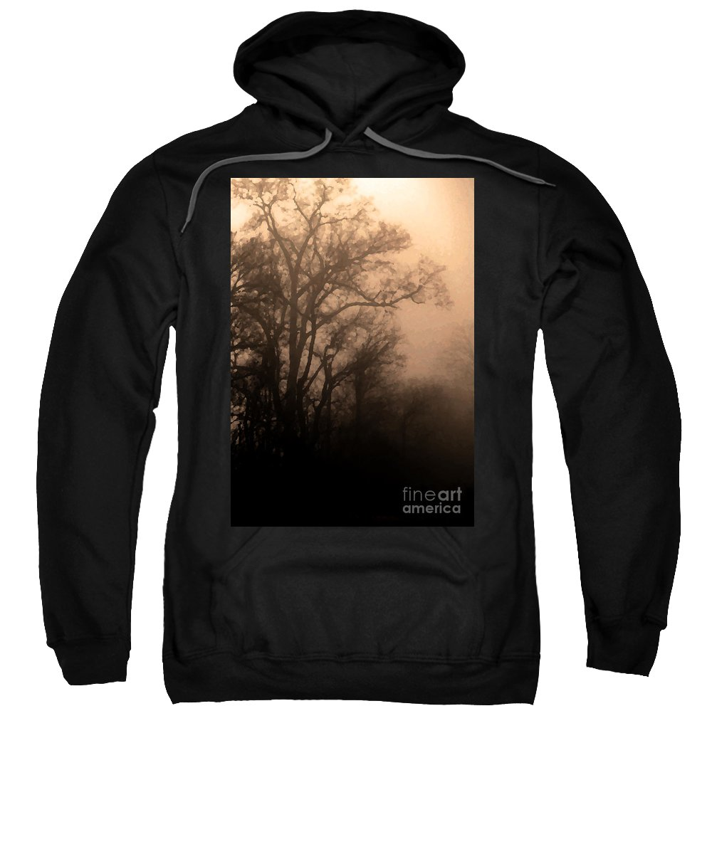 Soft Sweatshirt featuring the photograph Caught Between Light And Dark by Amanda Barcon