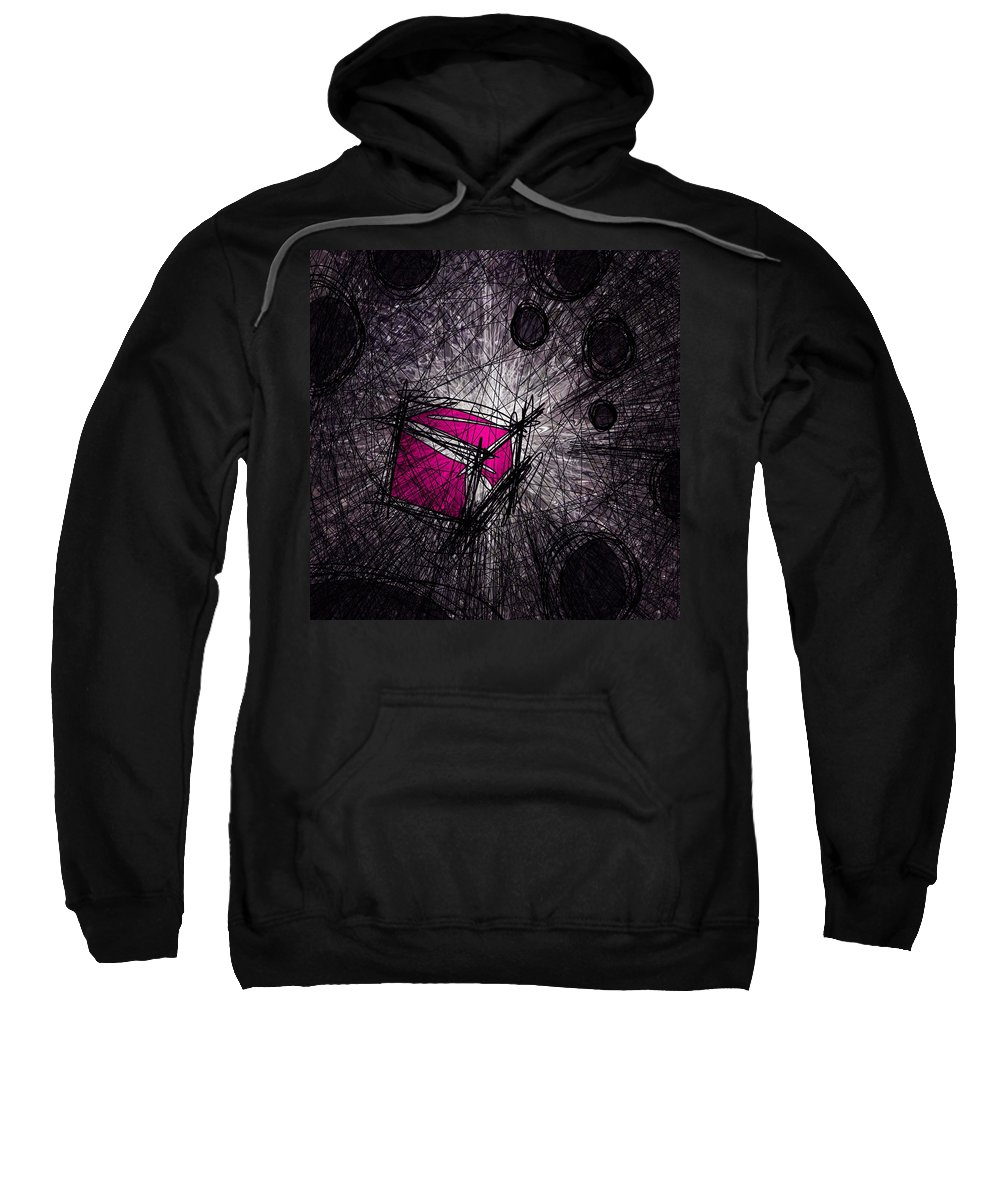 Abstract Sweatshirt featuring the digital art Caught In A Web by Rachel Christine Nowicki