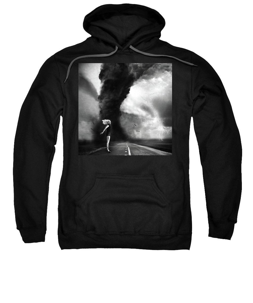 Surreal Sweatshirt featuring the photograph Caught In The Storm by Robert Magnus