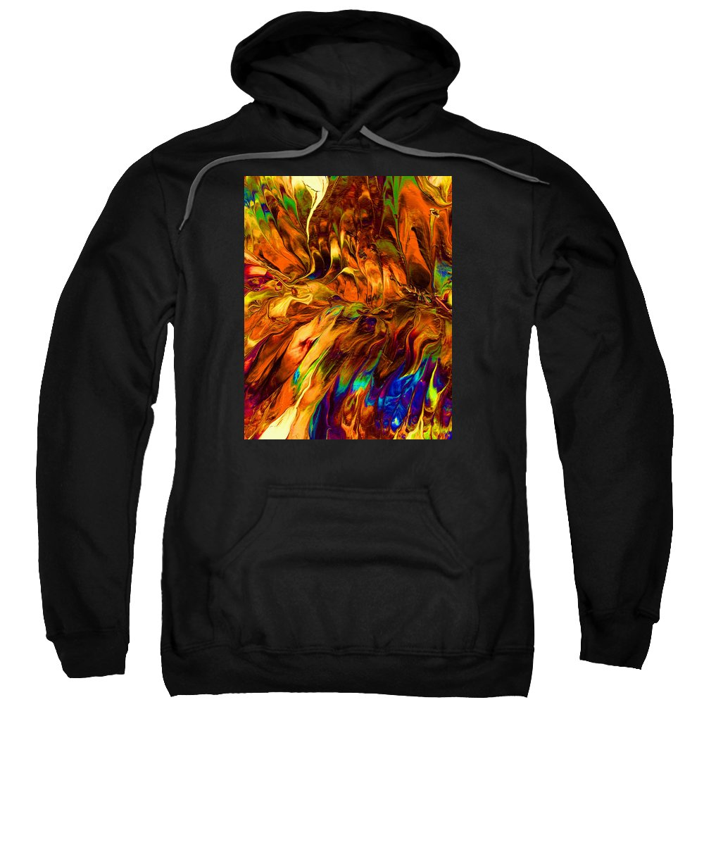 Abstract Art Print Sweatshirt featuring the painting Cc196 by John Kohn