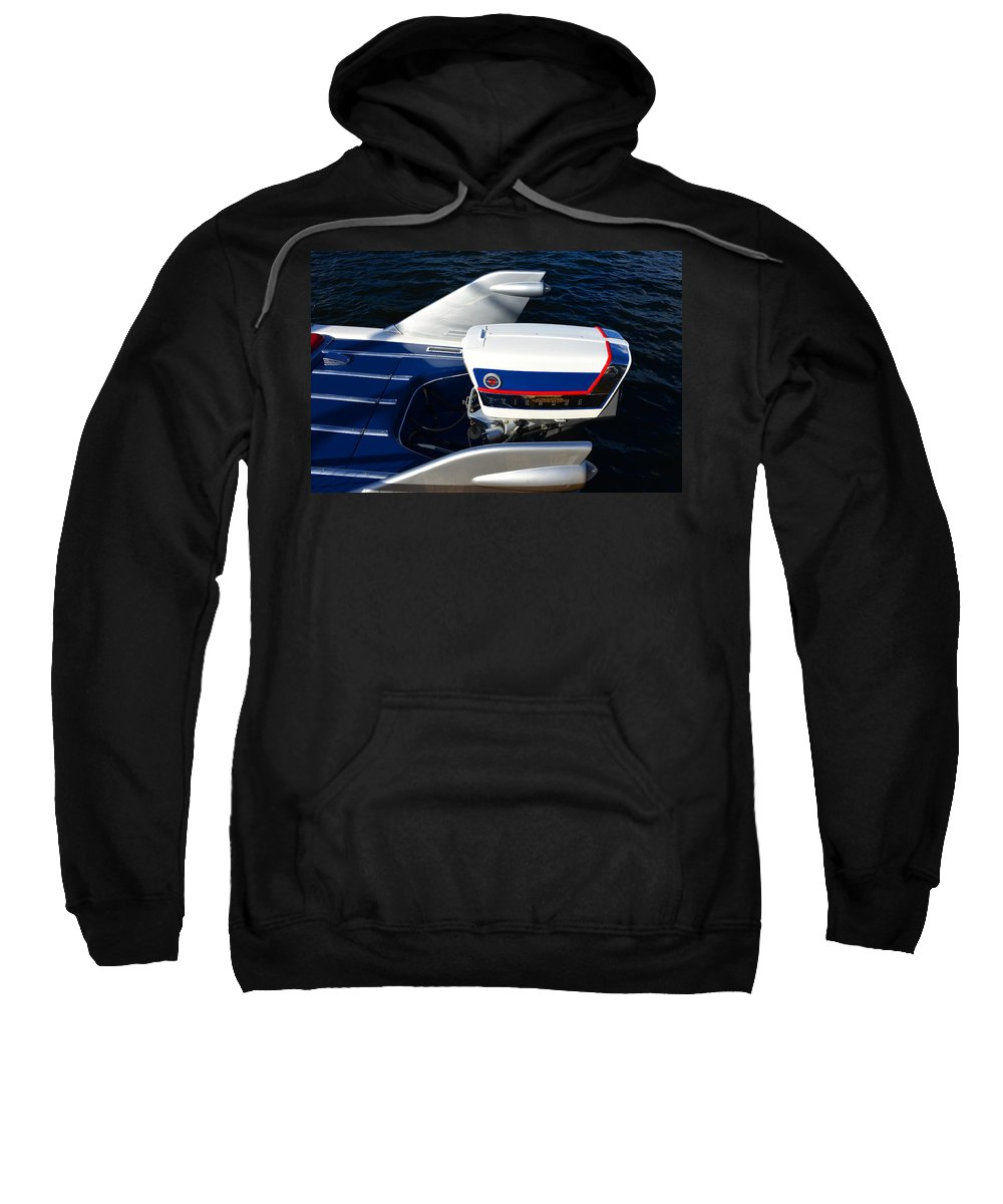 Nautical Sweatshirt featuring the photograph Fins Of A 1956 Sea Lark Boat by David Lee Thompson