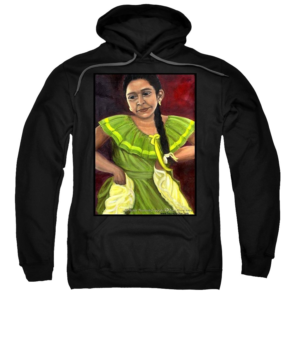 Sweatshirt featuring the painting Cecelia by Toni Berry