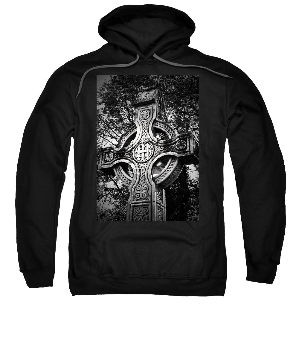 Irish Sweatshirt featuring the photograph Celtic Cross Detail Killarney Ireland by Teresa Mucha