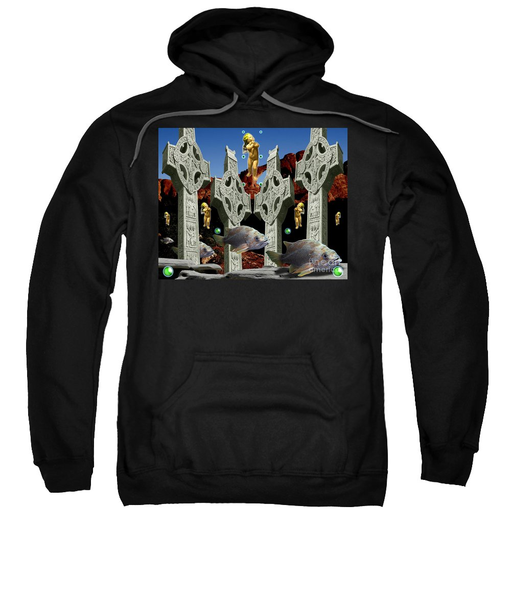 Landscape Sweatshirt featuring the digital art Celtic Valley by Keith Dillon
