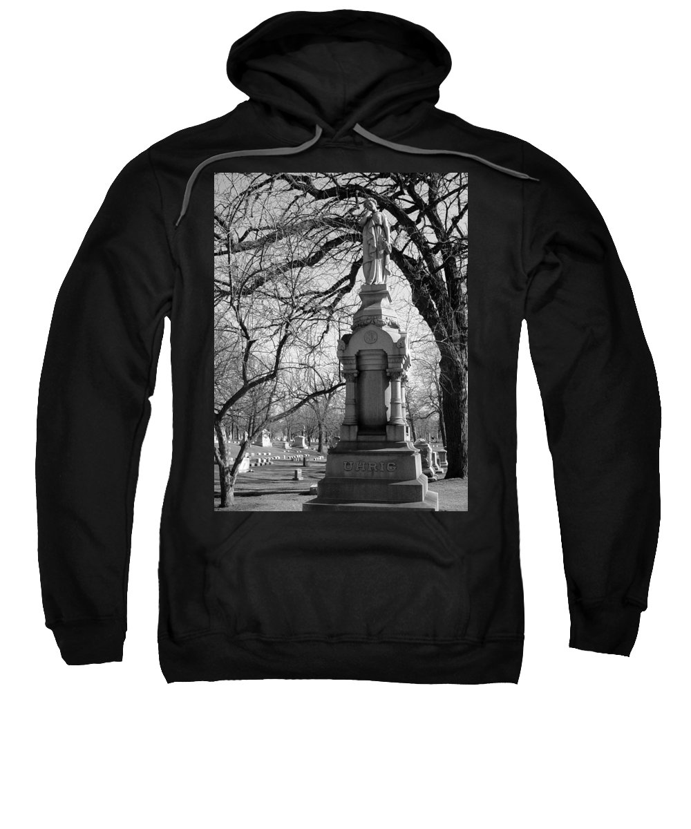 Cemetery Sweatshirt featuring the photograph Cemetery 1 by Anita Burgermeister