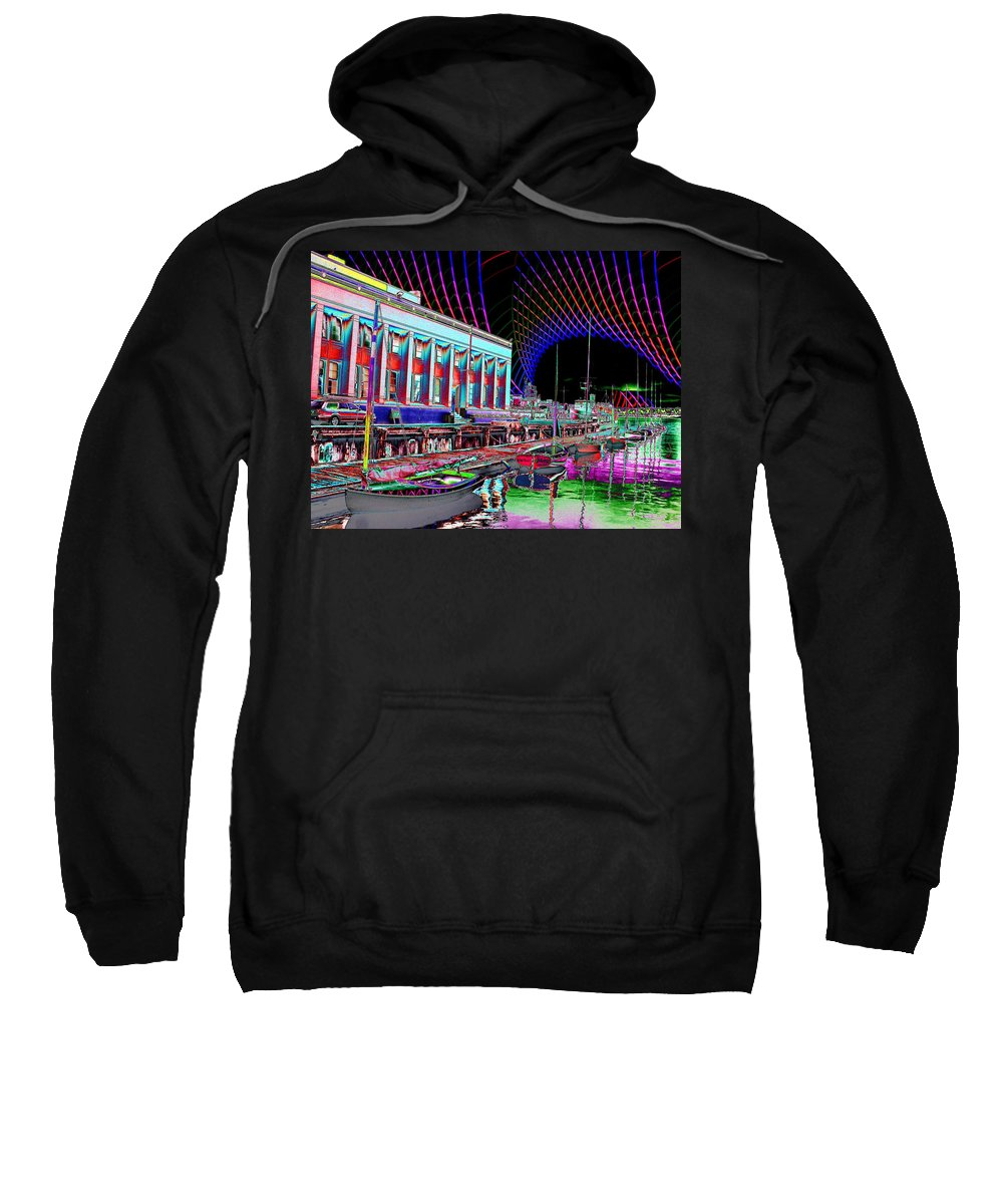 Seattle Sweatshirt featuring the photograph Center For Wooden Boats by Tim Allen