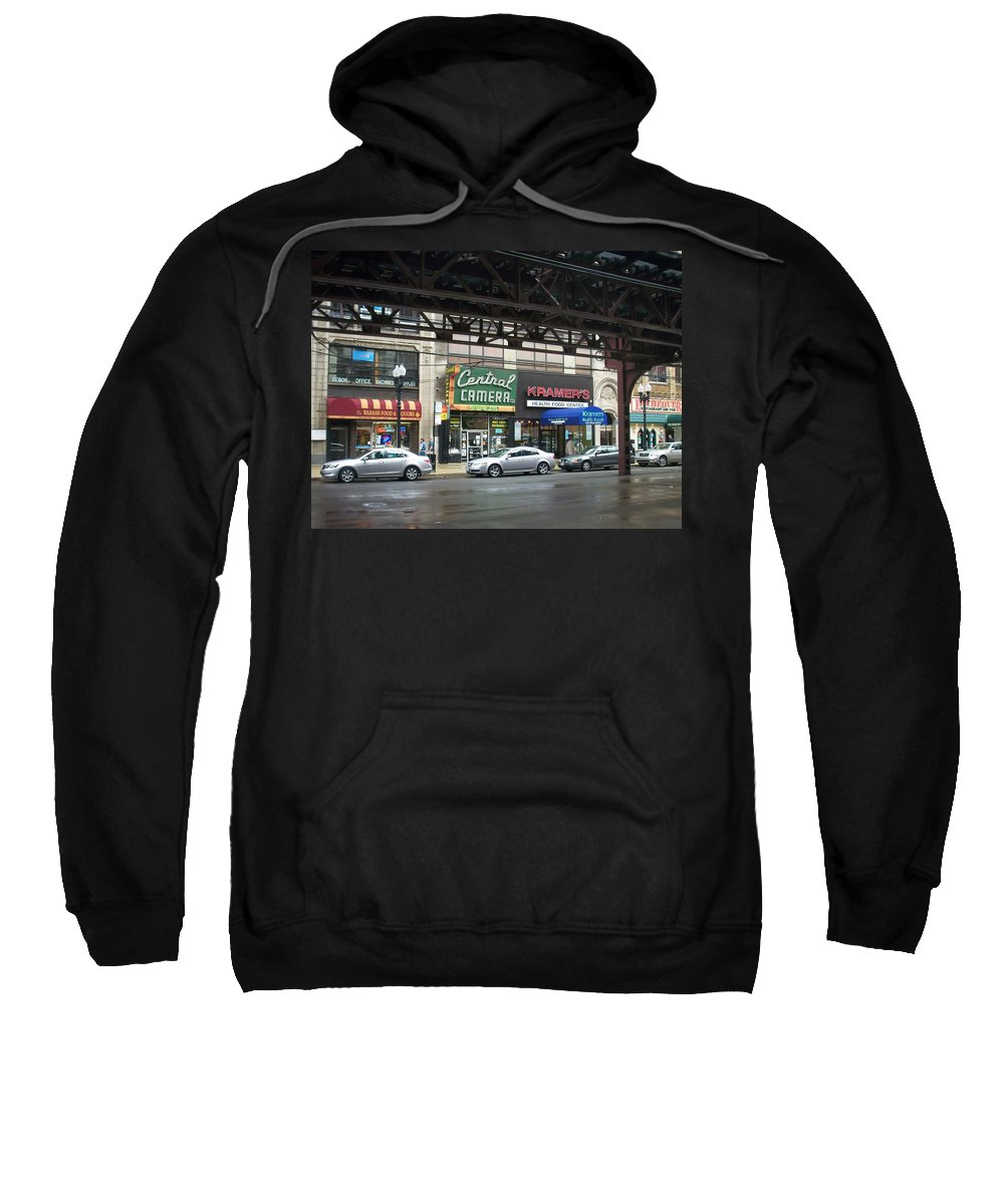 Chicago Sweatshirt featuring the photograph Central Camera On Wabash Ave by Anita Burgermeister